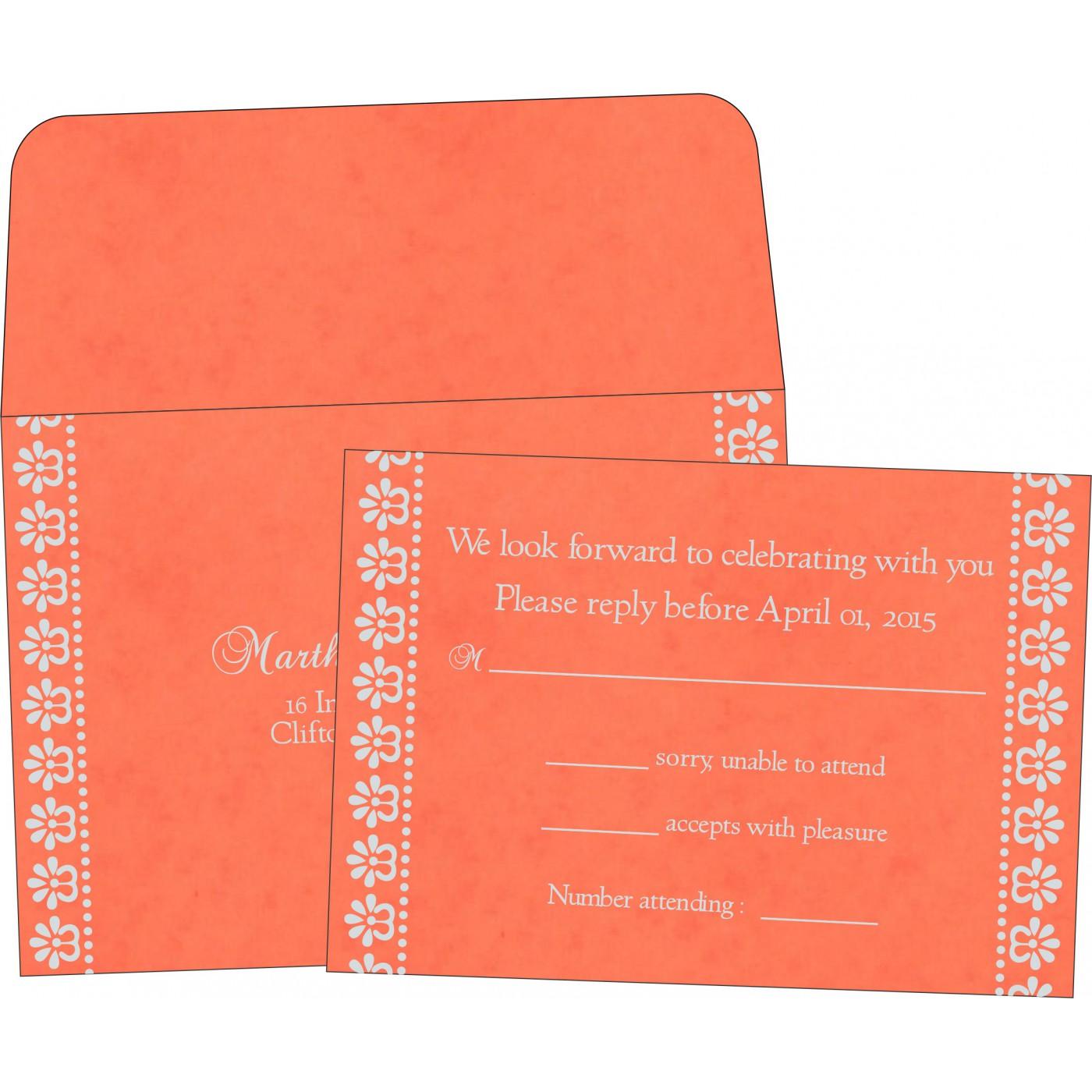 RSVP Cards : CRSVP-8231M - IndianWeddingCards