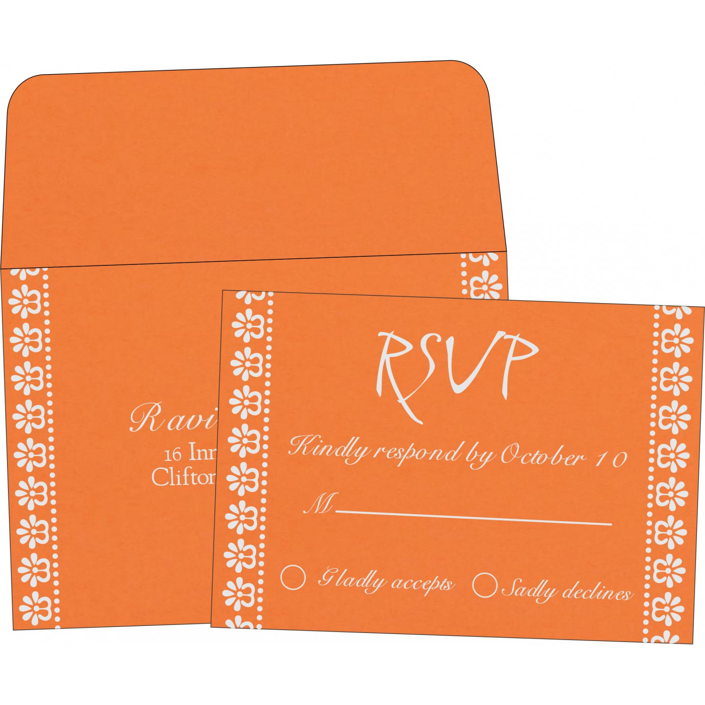RSVP Cards : CRSVP-8231N - IndianWeddingCards