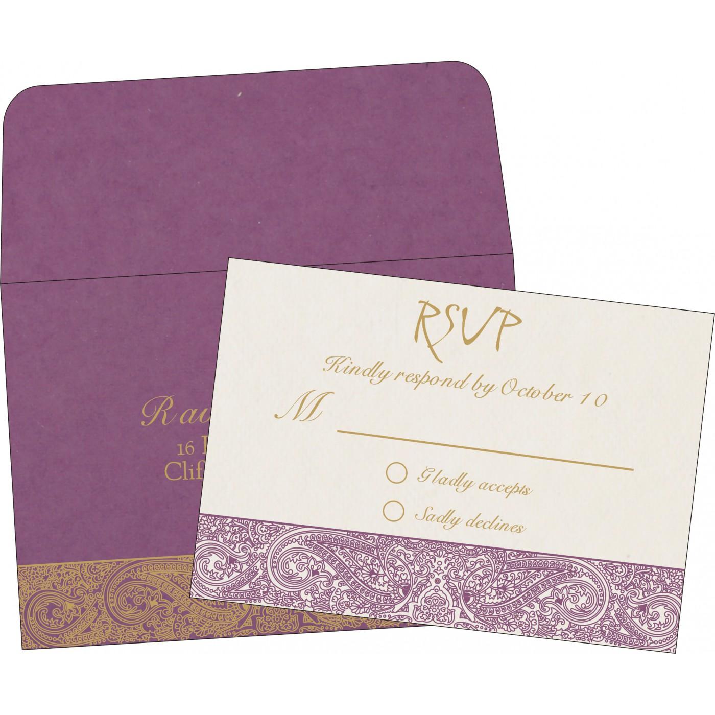 RSVP Cards : CRSVP-8234D - IndianWeddingCards