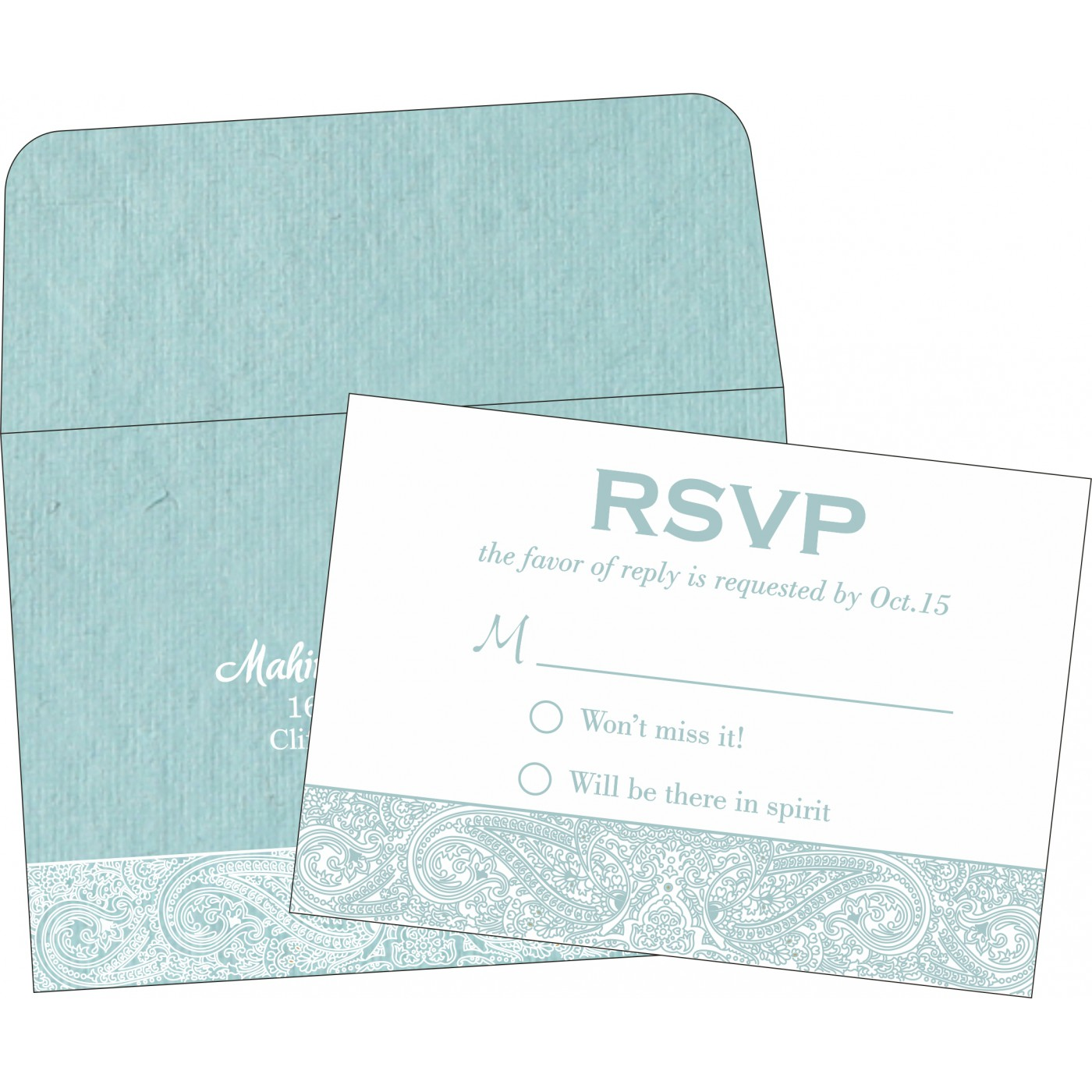 RSVP Cards : CRSVP-8234E - IndianWeddingCards