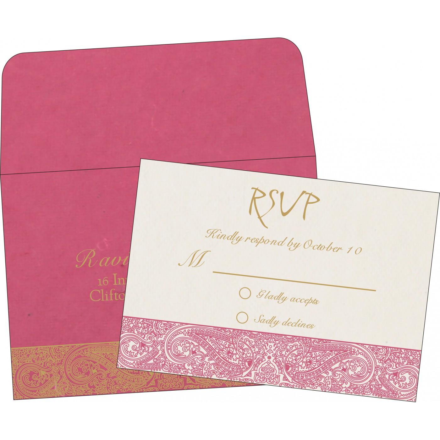 RSVP Cards : CRSVP-8234I - IndianWeddingCards