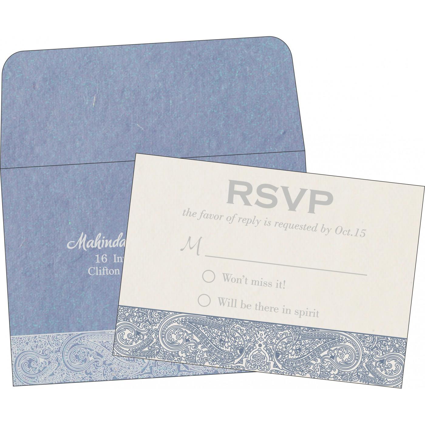 RSVP Cards : CRSVP-8234J - IndianWeddingCards