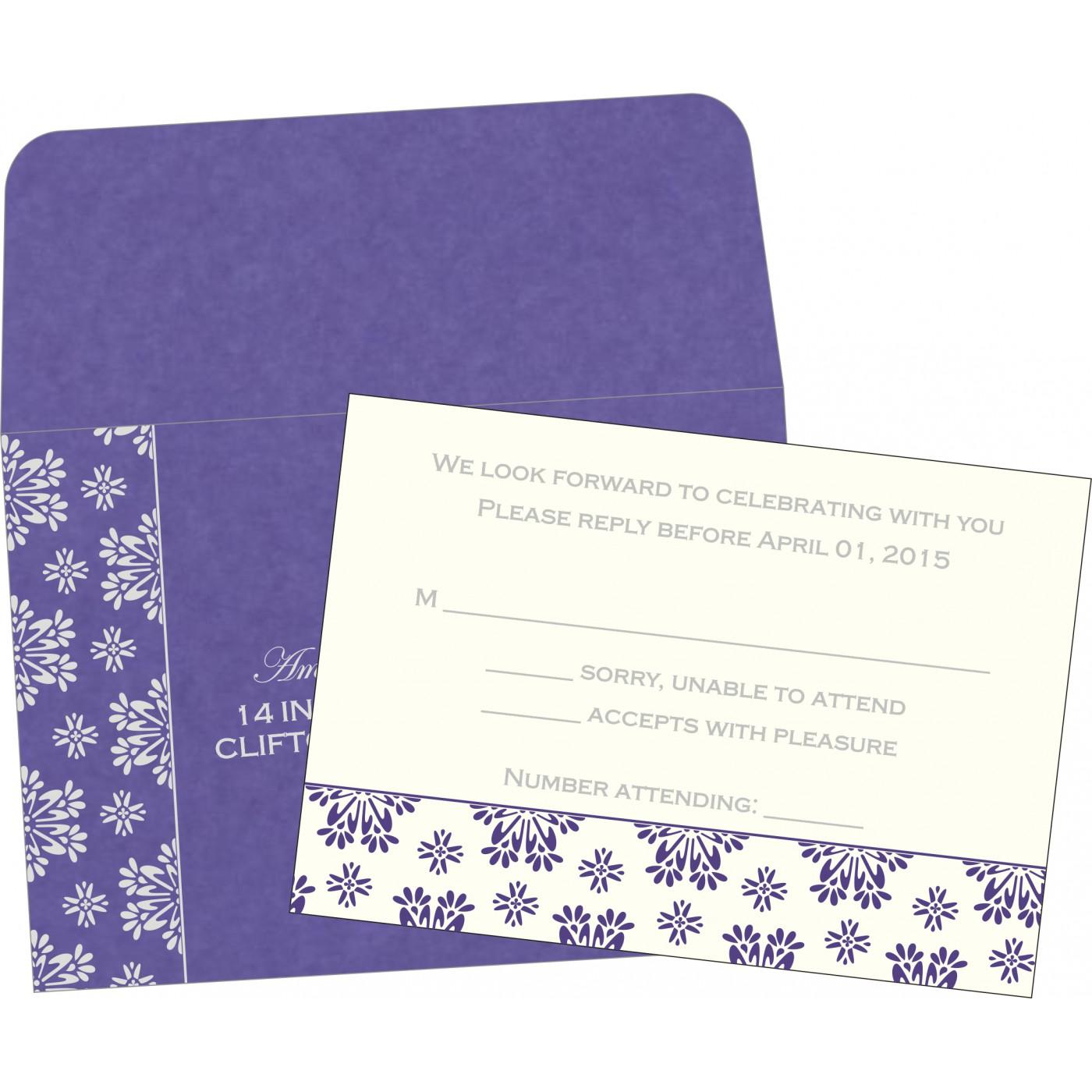 RSVP Cards : CRSVP-8237A - IndianWeddingCards