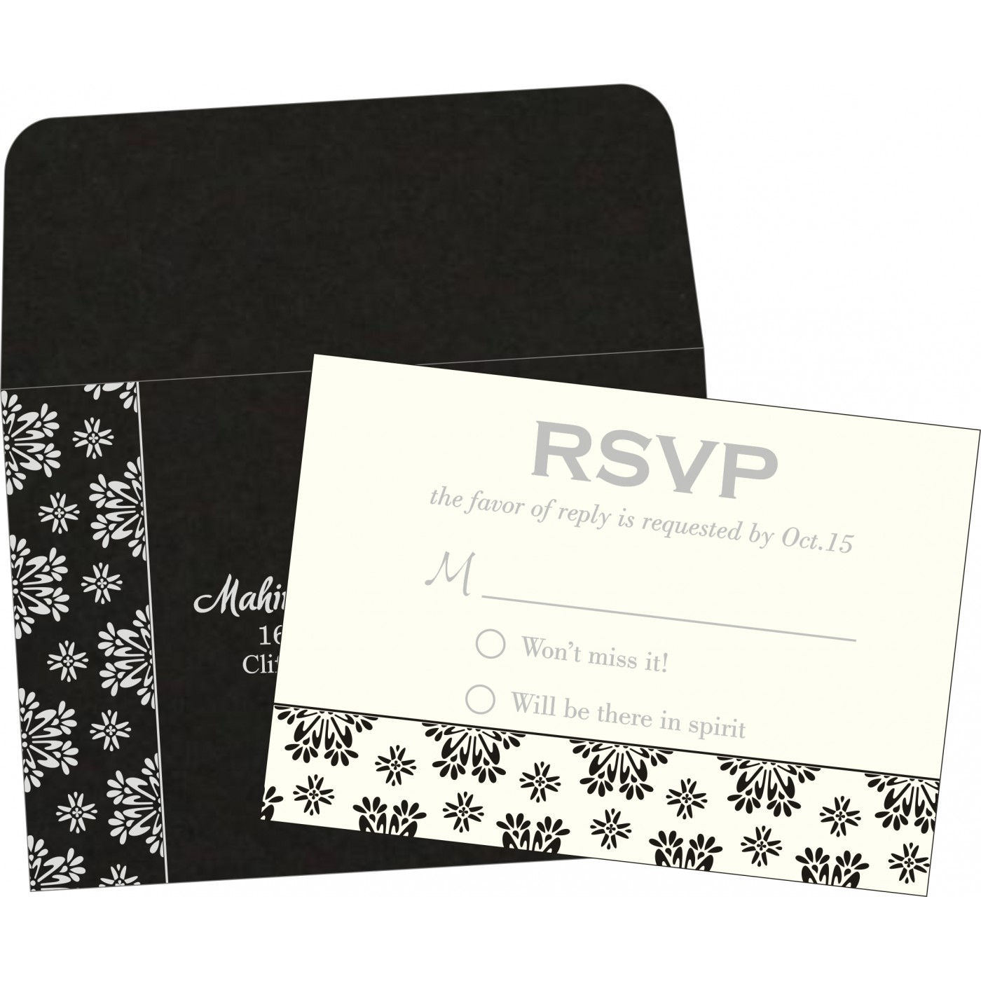 RSVP Cards : CRSVP-8237H - IndianWeddingCards