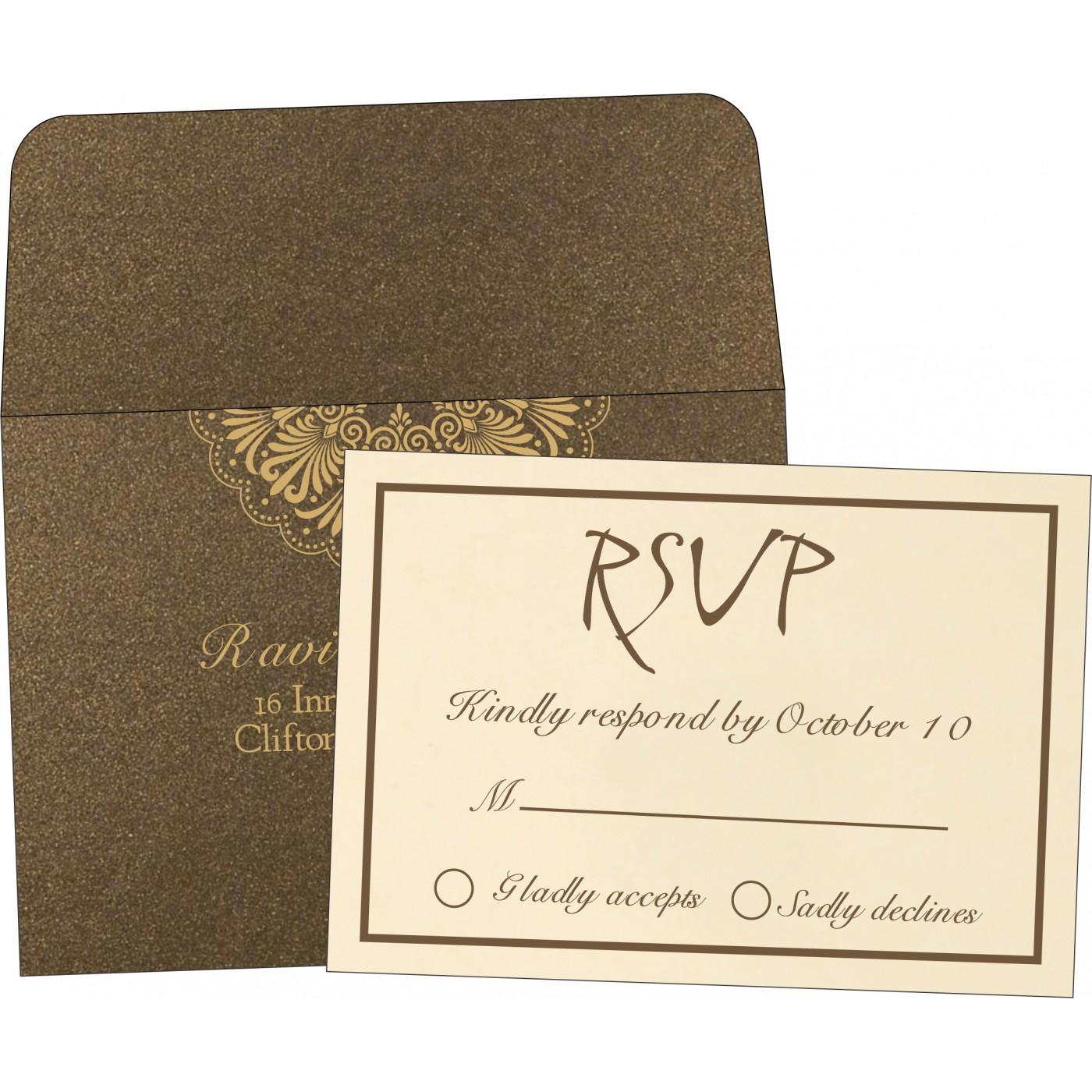 RSVP Cards : CRSVP-8238G - IndianWeddingCards