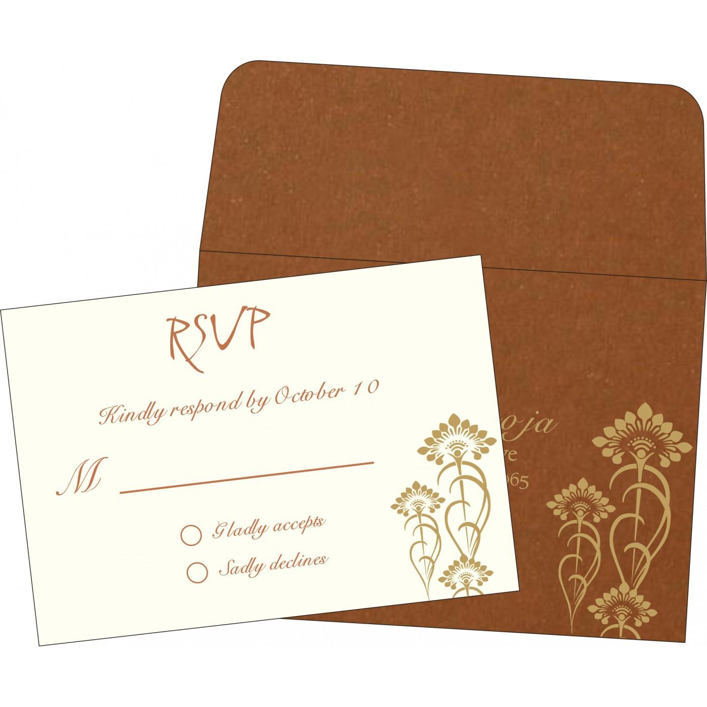 RSVP Cards : CRSVP-8239H - IndianWeddingCards