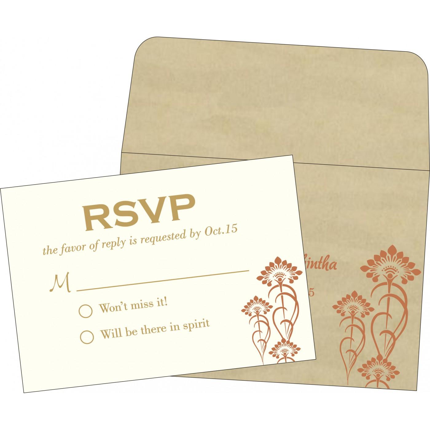 RSVP Cards : CRSVP-8239I - IndianWeddingCards
