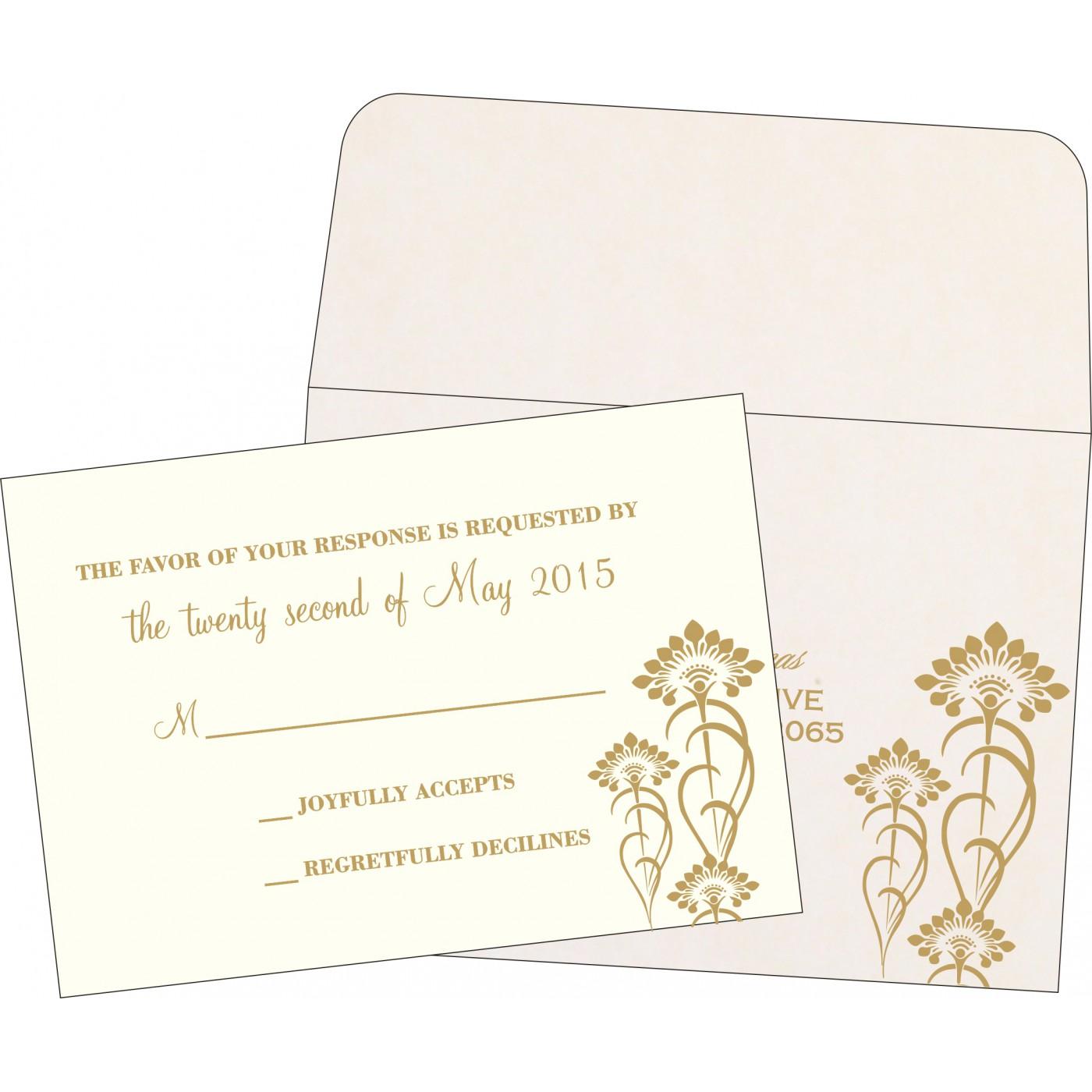 RSVP Cards : CRSVP-8239K - IndianWeddingCards