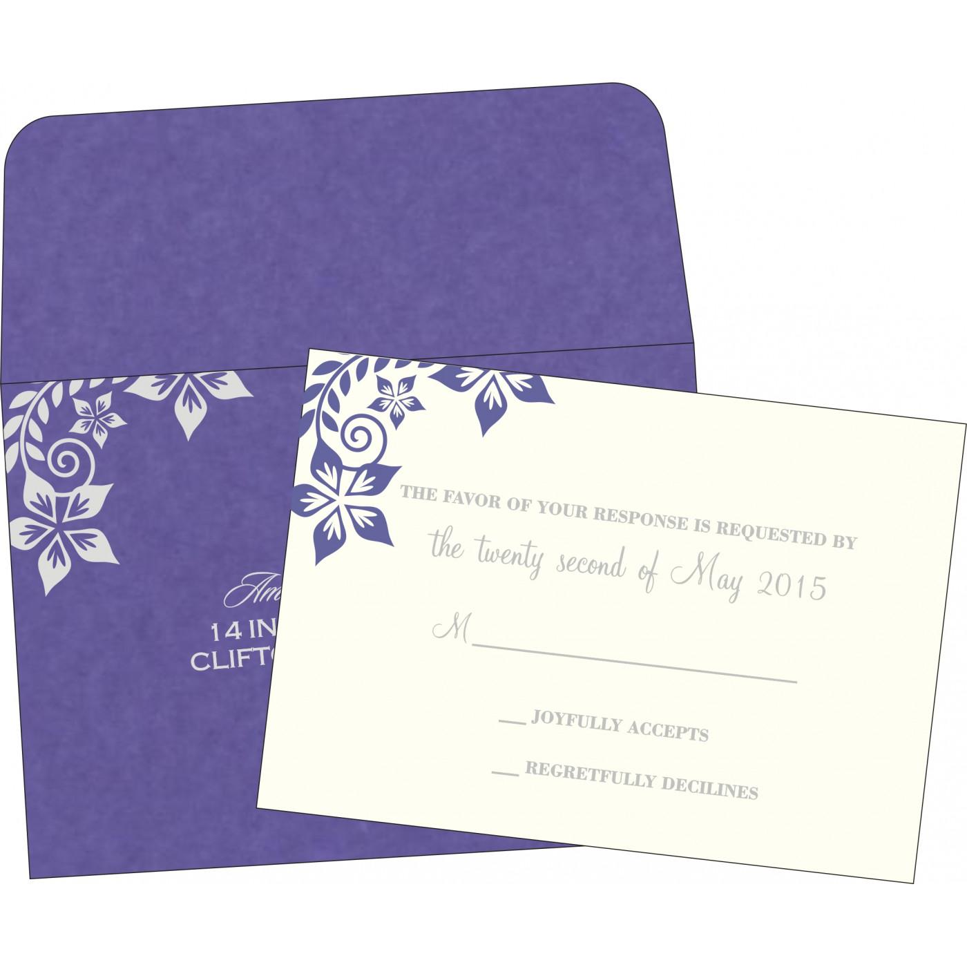 RSVP Cards : CRSVP-8240B - IndianWeddingCards
