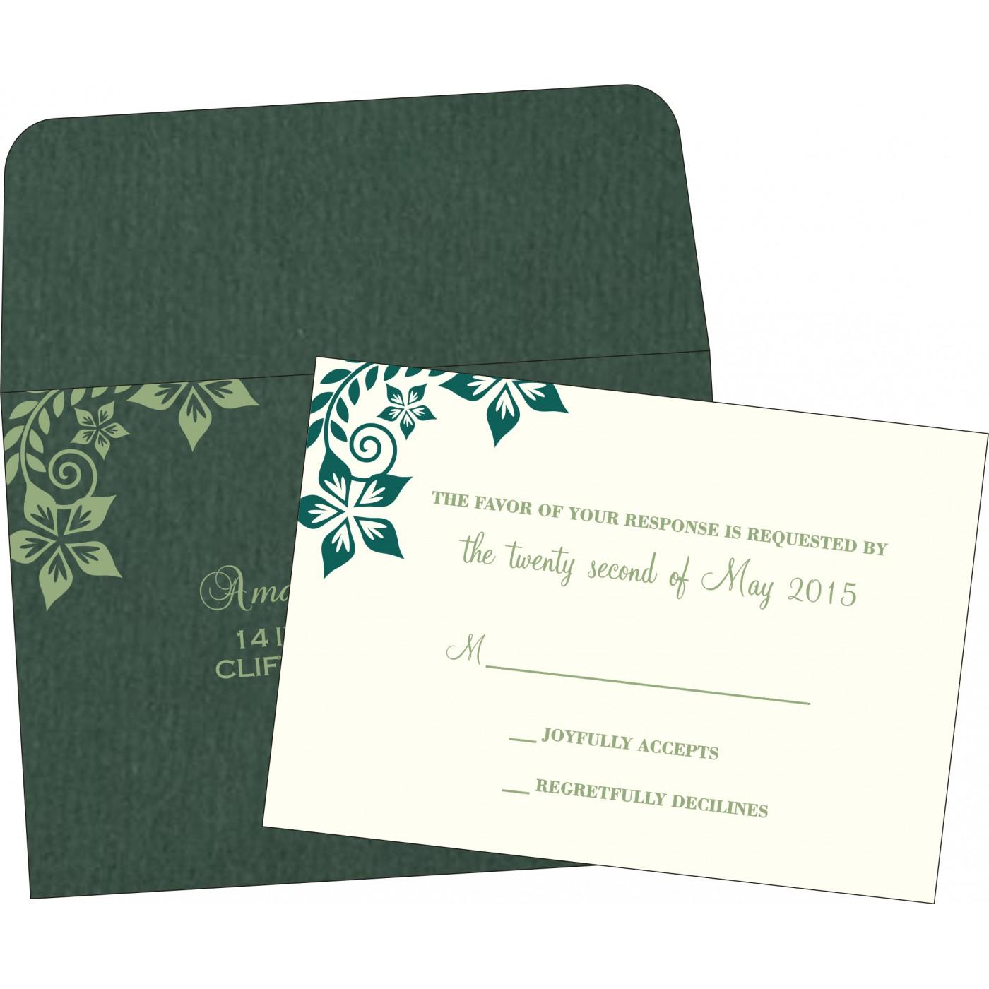 RSVP Cards : CRSVP-8240N - IndianWeddingCards