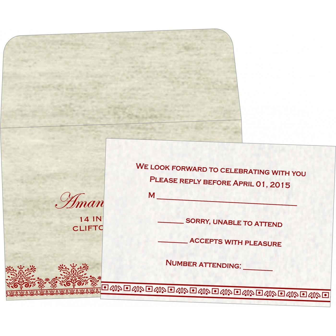 RSVP Cards : CRSVP-8241B - IndianWeddingCards