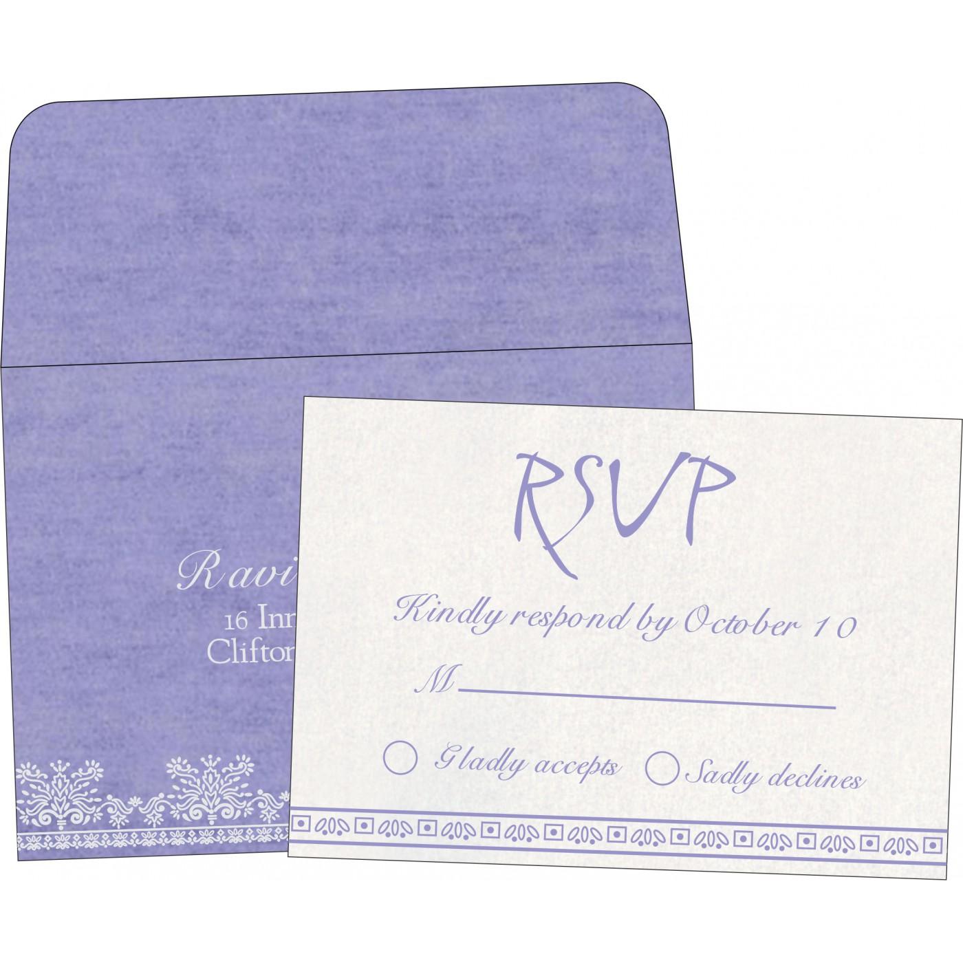 RSVP Cards : CRSVP-8241D - IndianWeddingCards