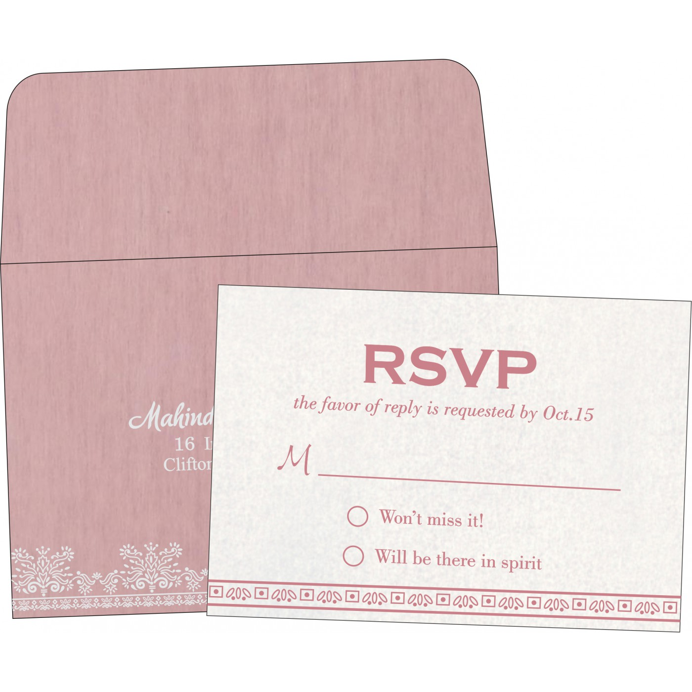 RSVP Cards : CRSVP-8241E - IndianWeddingCards