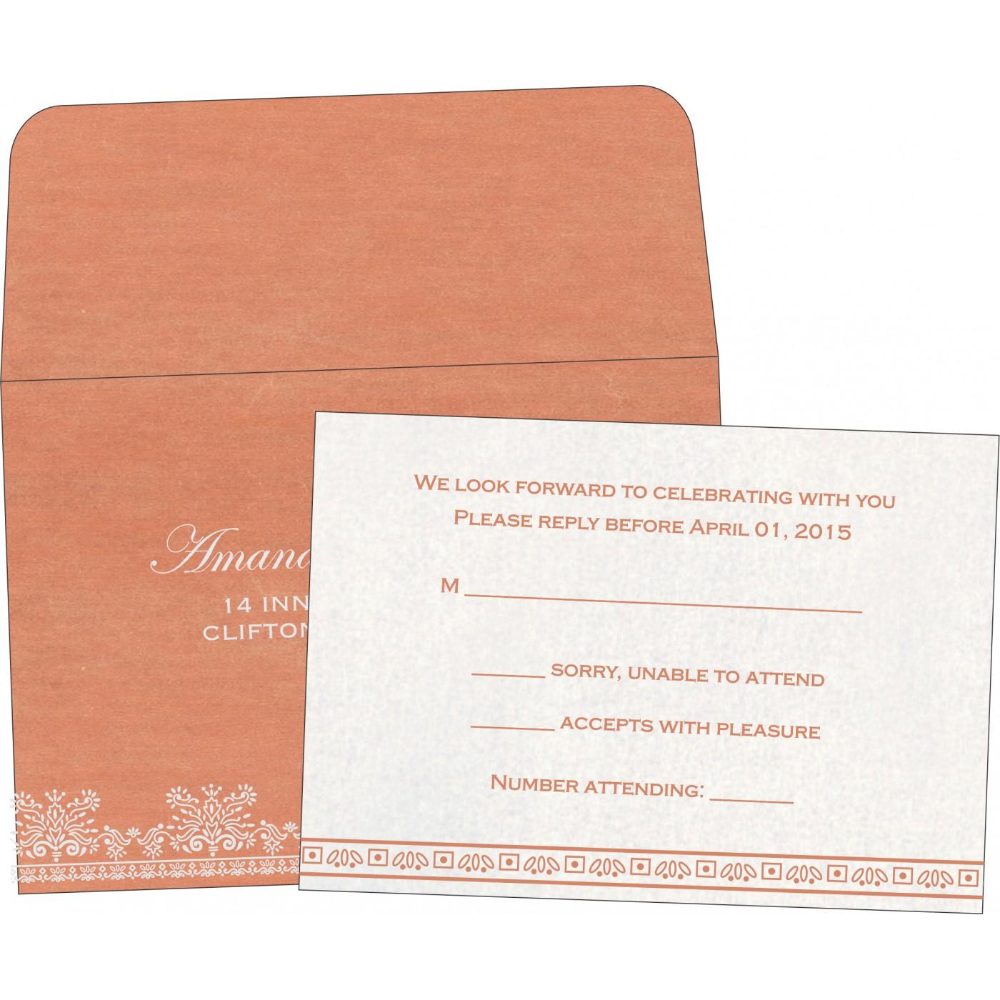 RSVP Cards : CRSVP-8241G - IndianWeddingCards