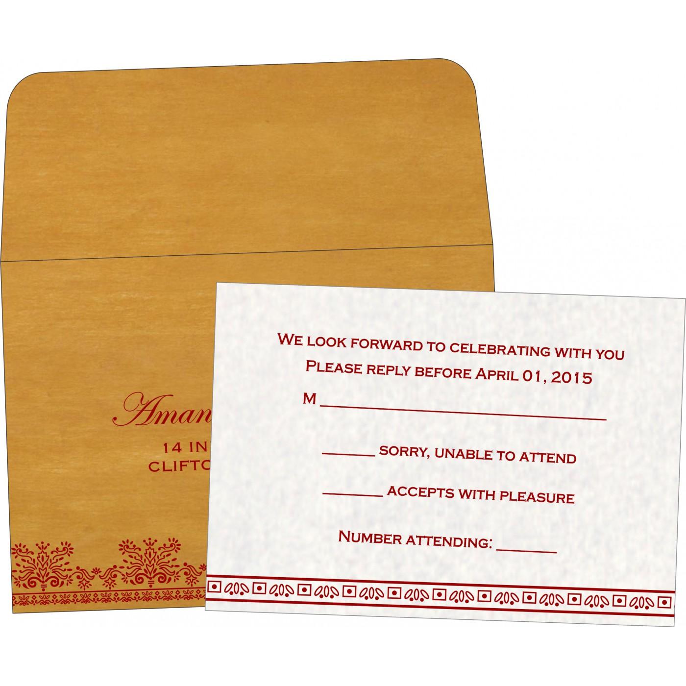 RSVP Cards : CRSVP-8241J - IndianWeddingCards