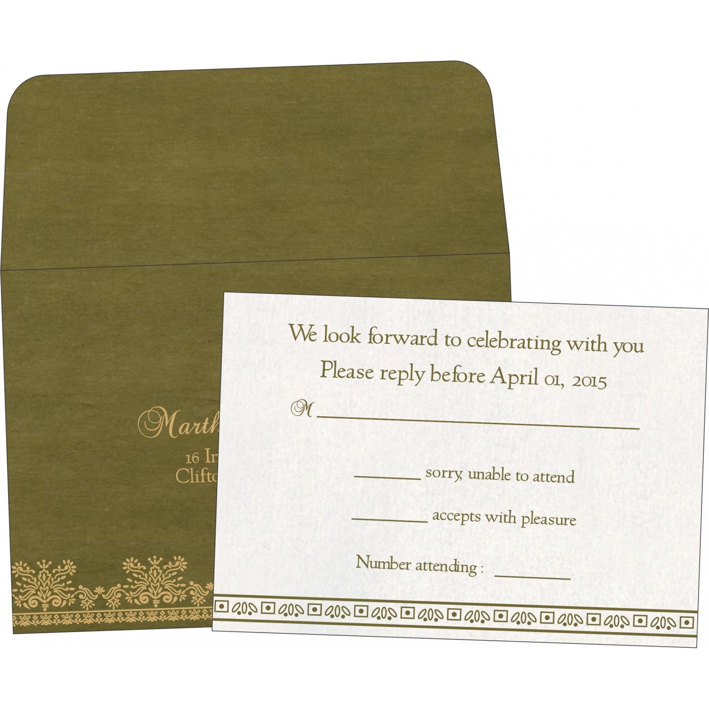 RSVP Cards : CRSVP-8241L - IndianWeddingCards