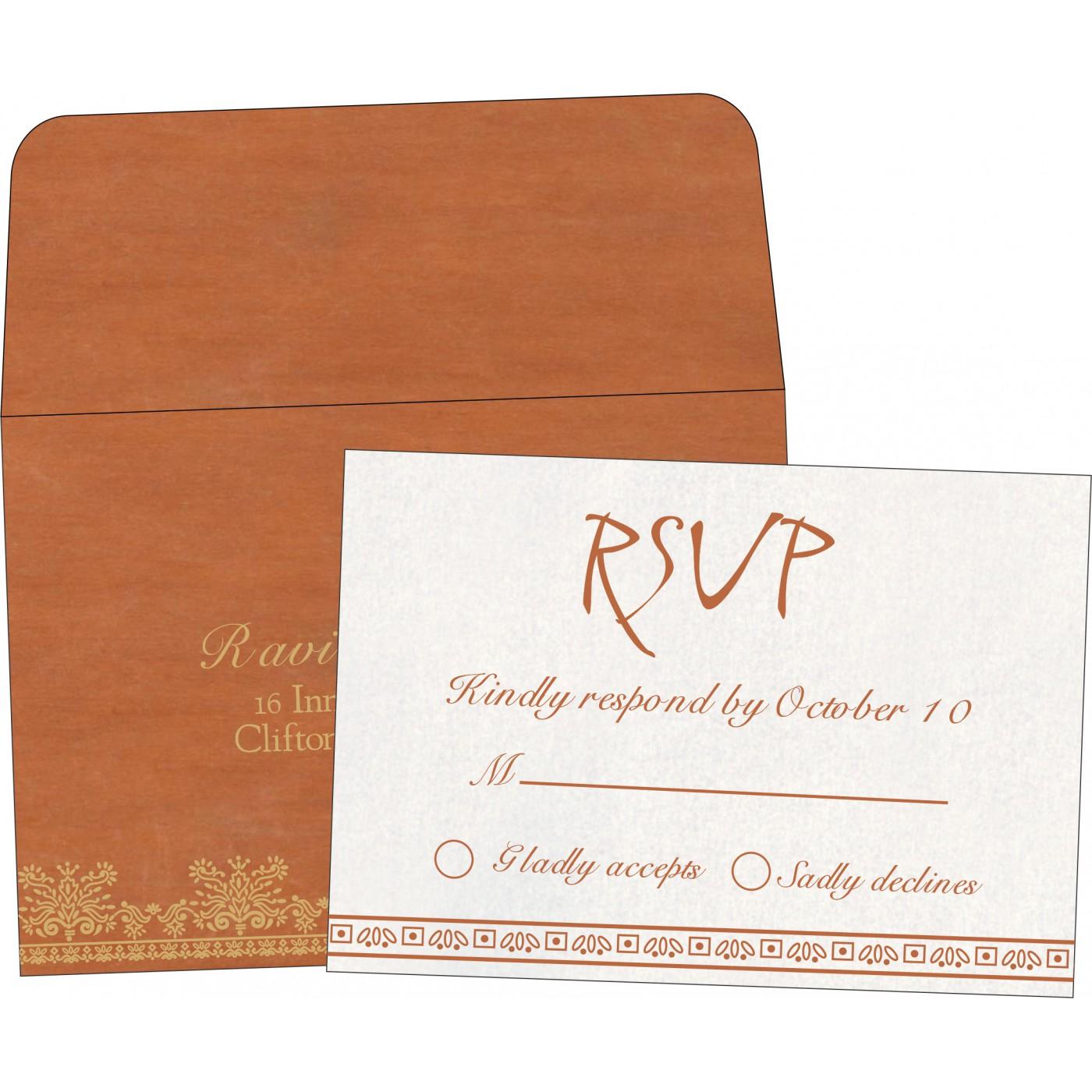 RSVP Cards : CRSVP-8241M - IndianWeddingCards