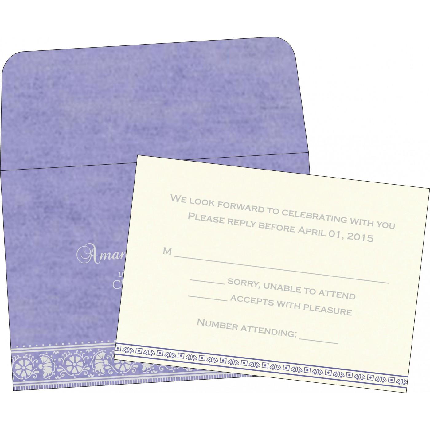 RSVP Cards : CRSVP-8242C - IndianWeddingCards