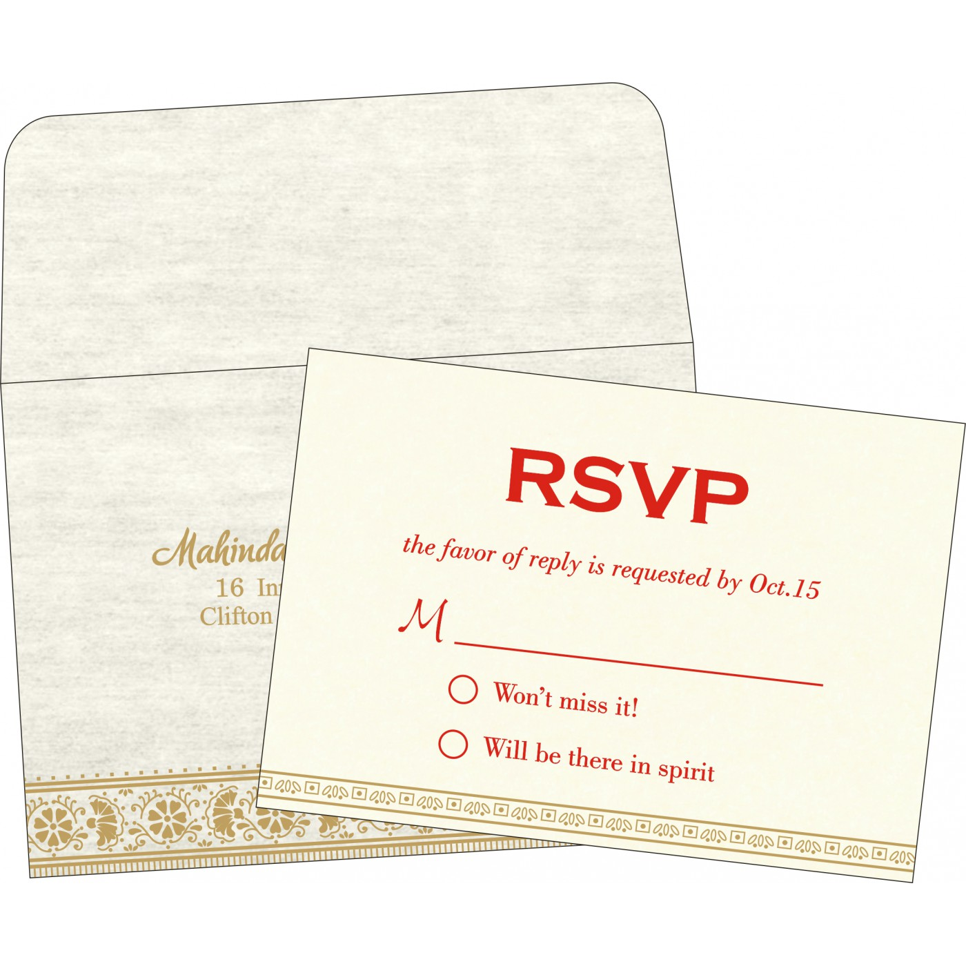 RSVP Cards : CRSVP-8242M - IndianWeddingCards