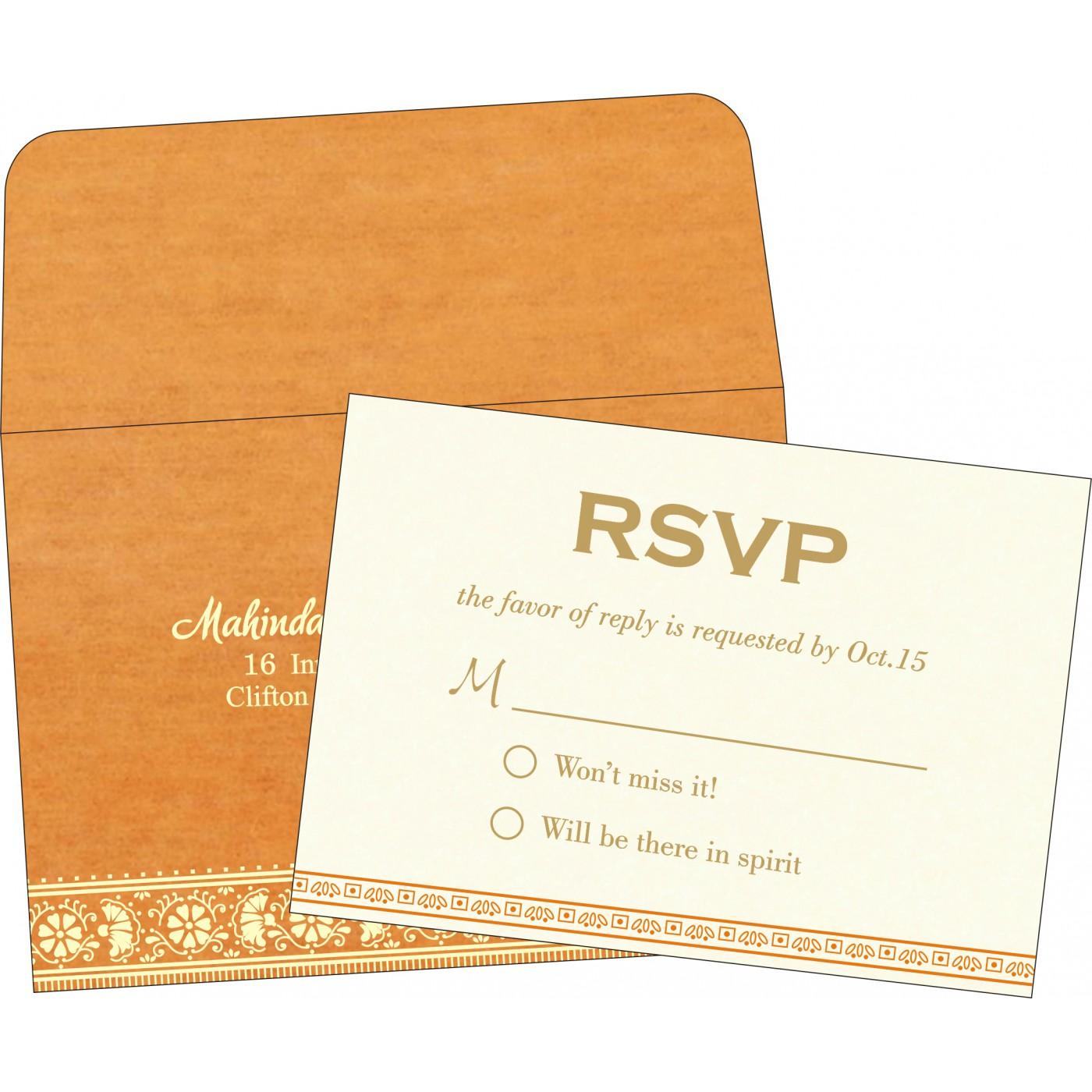 RSVP Cards : CRSVP-8242Q - IndianWeddingCards