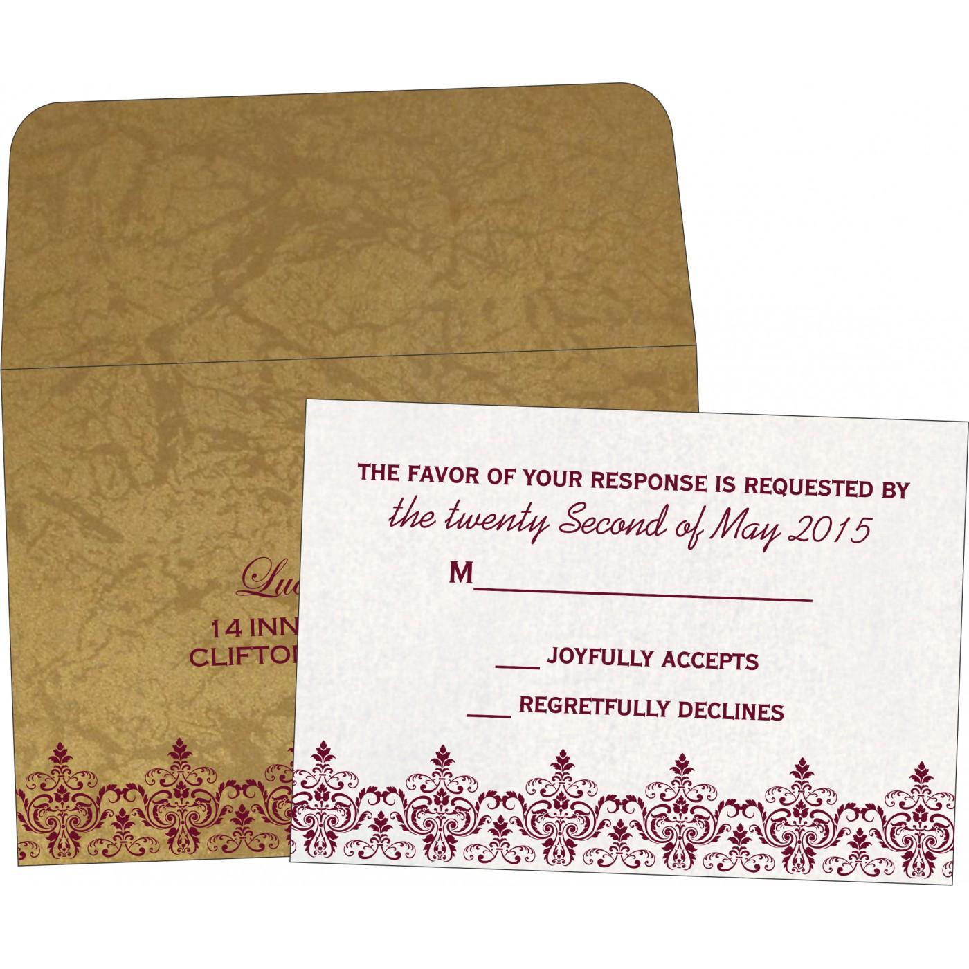 RSVP Cards : CRSVP-8244G - IndianWeddingCards
