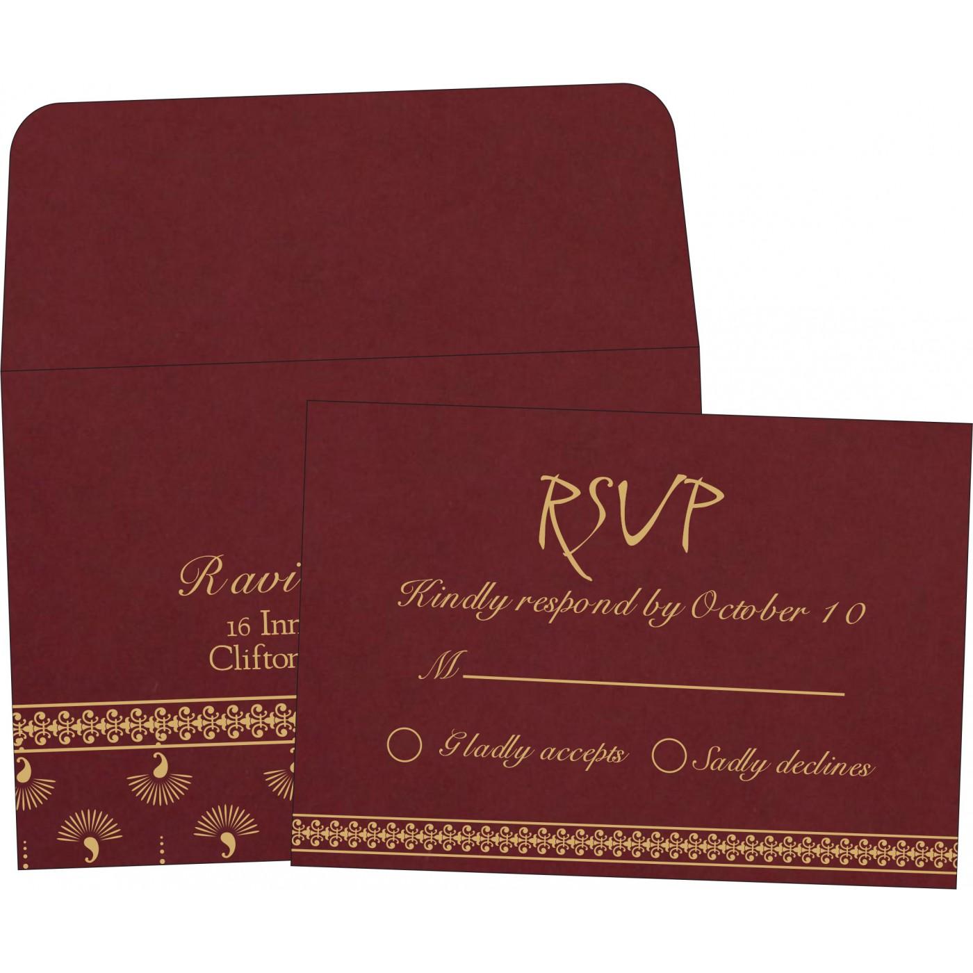 RSVP Cards : CRSVP-8247D - IndianWeddingCards