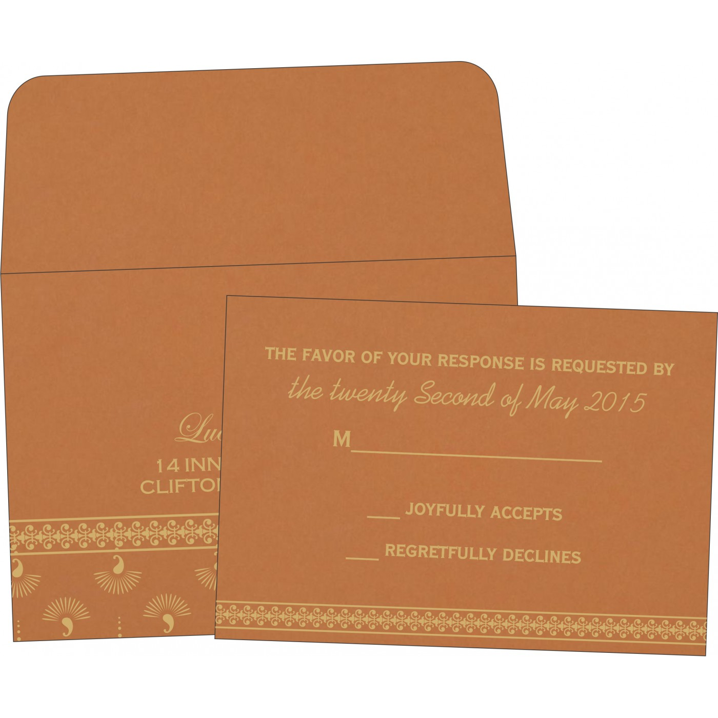 RSVP Cards : CRSVP-8247F - IndianWeddingCards
