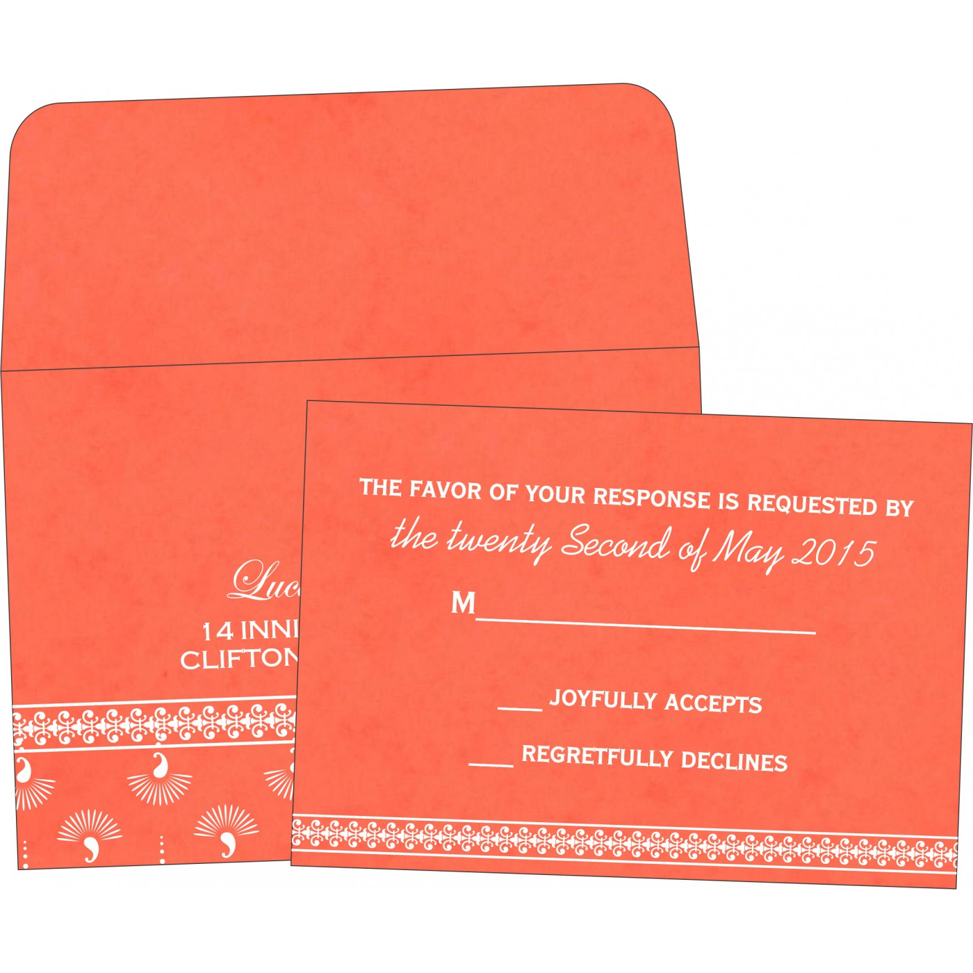 RSVP Cards : CRSVP-8247I - IndianWeddingCards