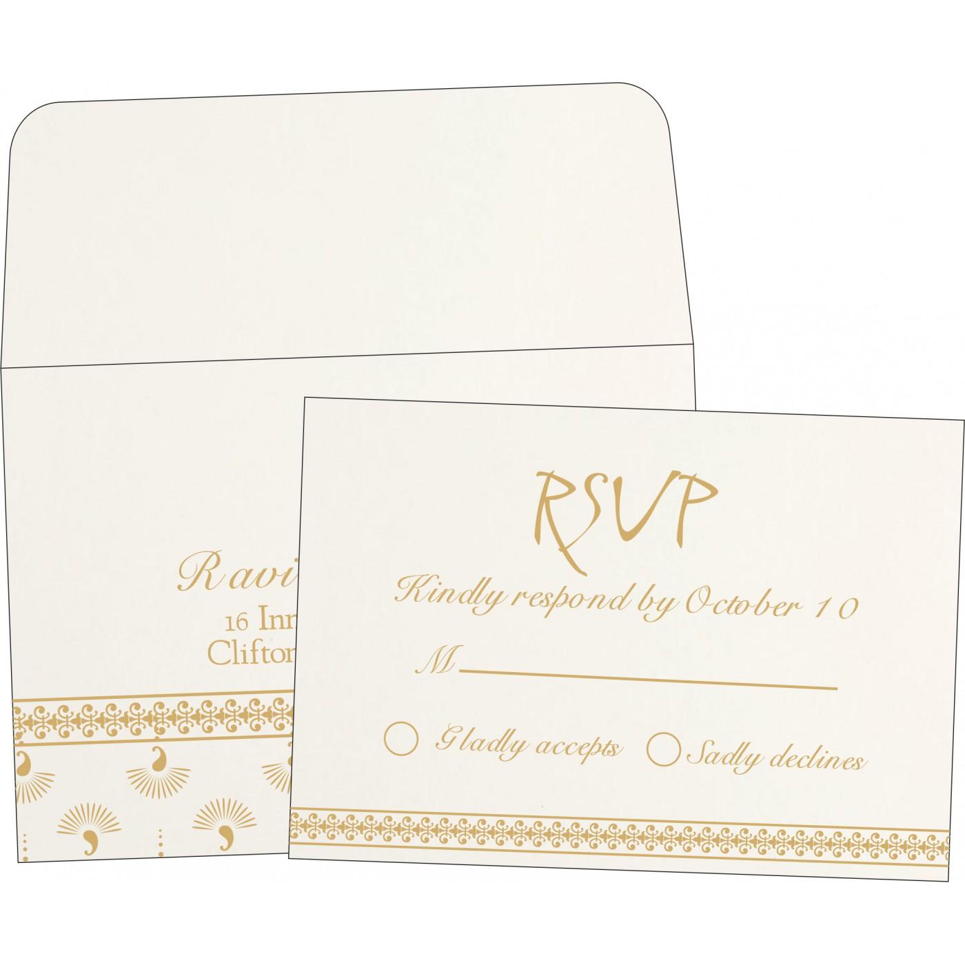 RSVP Cards : CRSVP-8247M - IndianWeddingCards