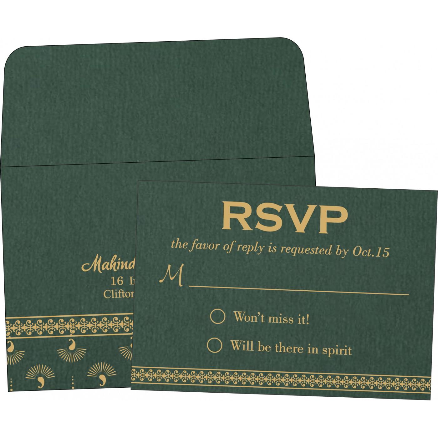 RSVP Cards : CRSVP-8247N - IndianWeddingCards