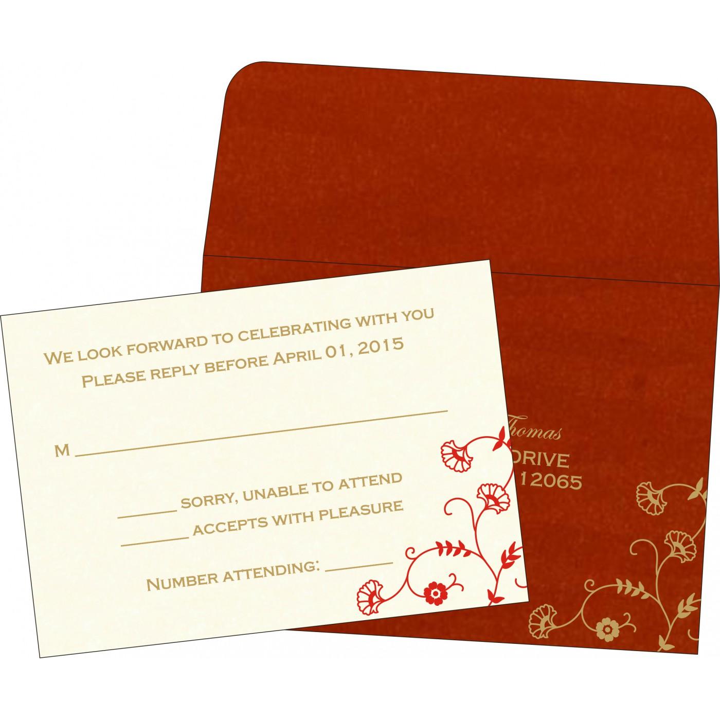 RSVP Cards : CRSVP-8248A - IndianWeddingCards