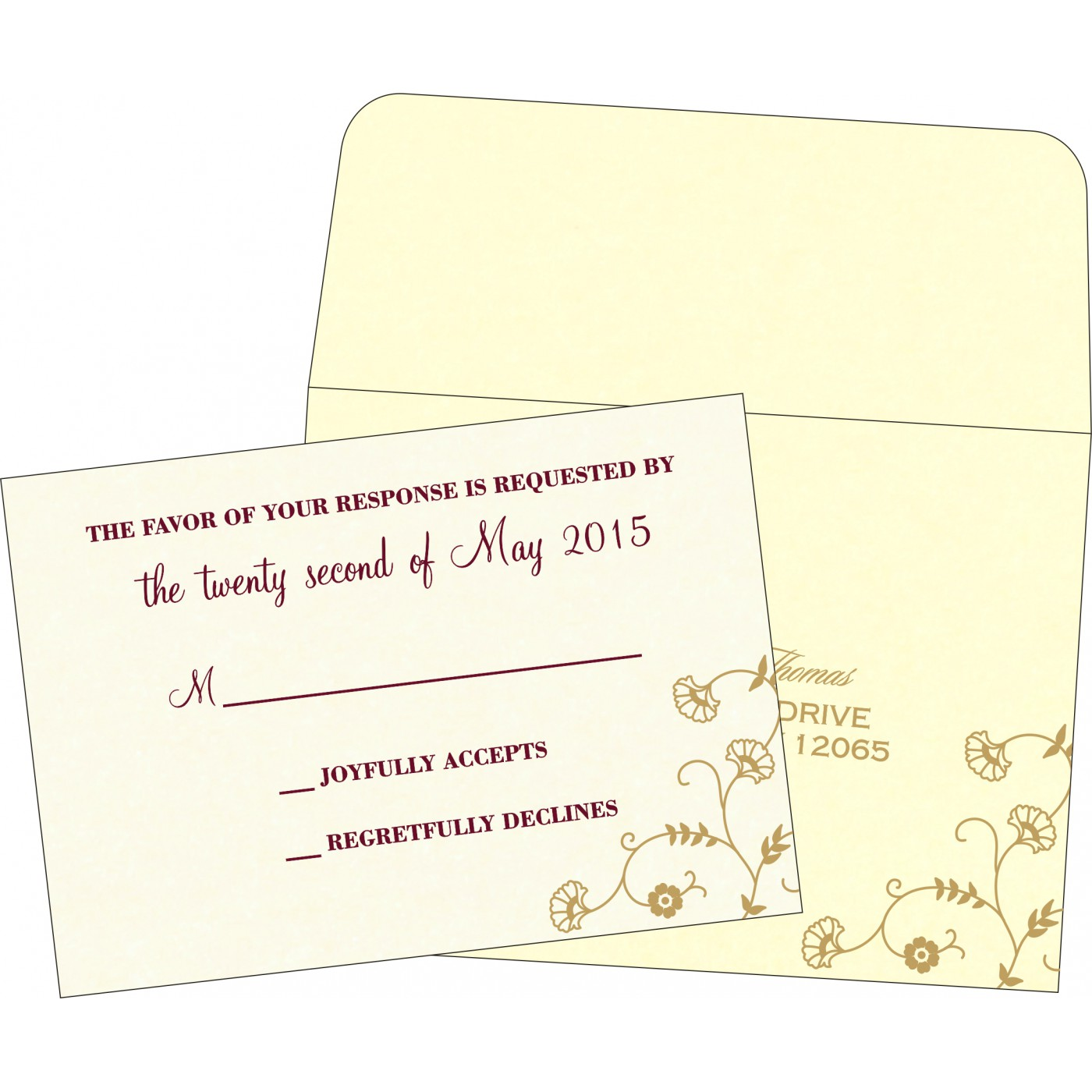 RSVP Cards : CRSVP-8248B - IndianWeddingCards