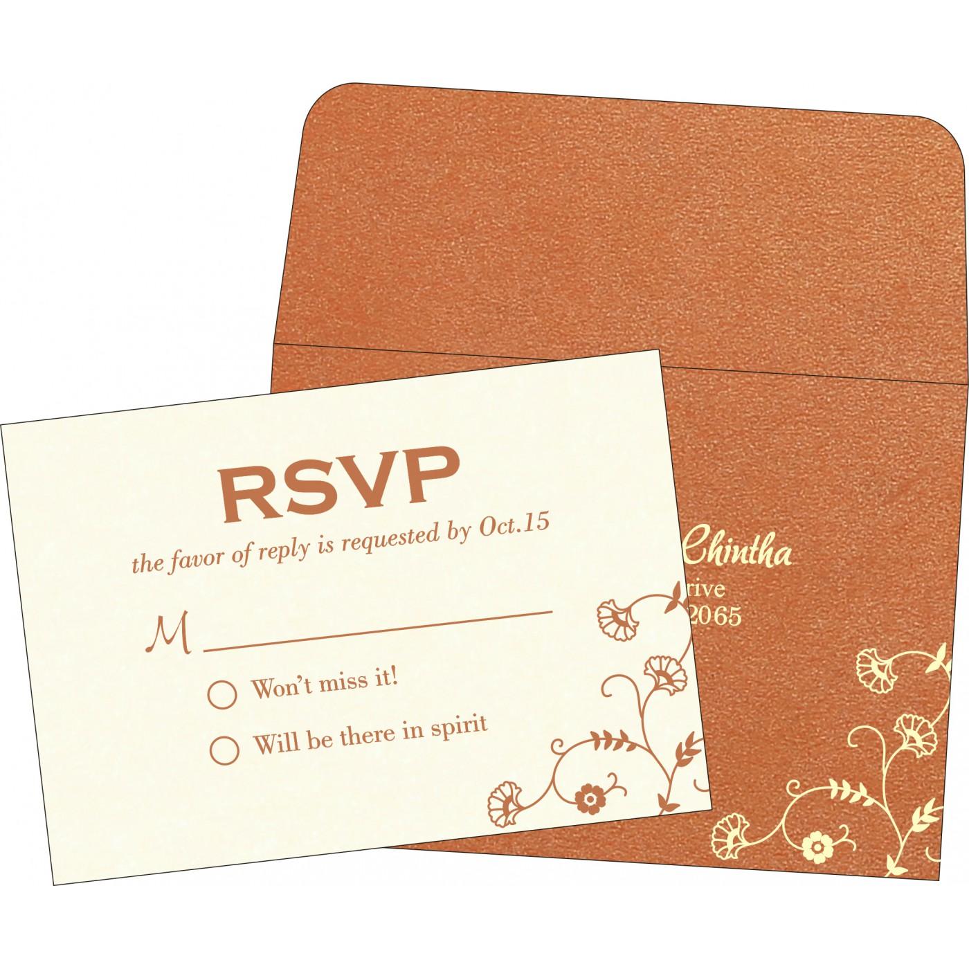 RSVP Cards : CRSVP-8248E - IndianWeddingCards