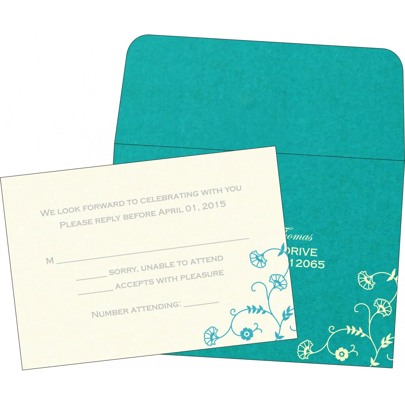 RSVP Cards : CRSVP-8248F - IndianWeddingCards
