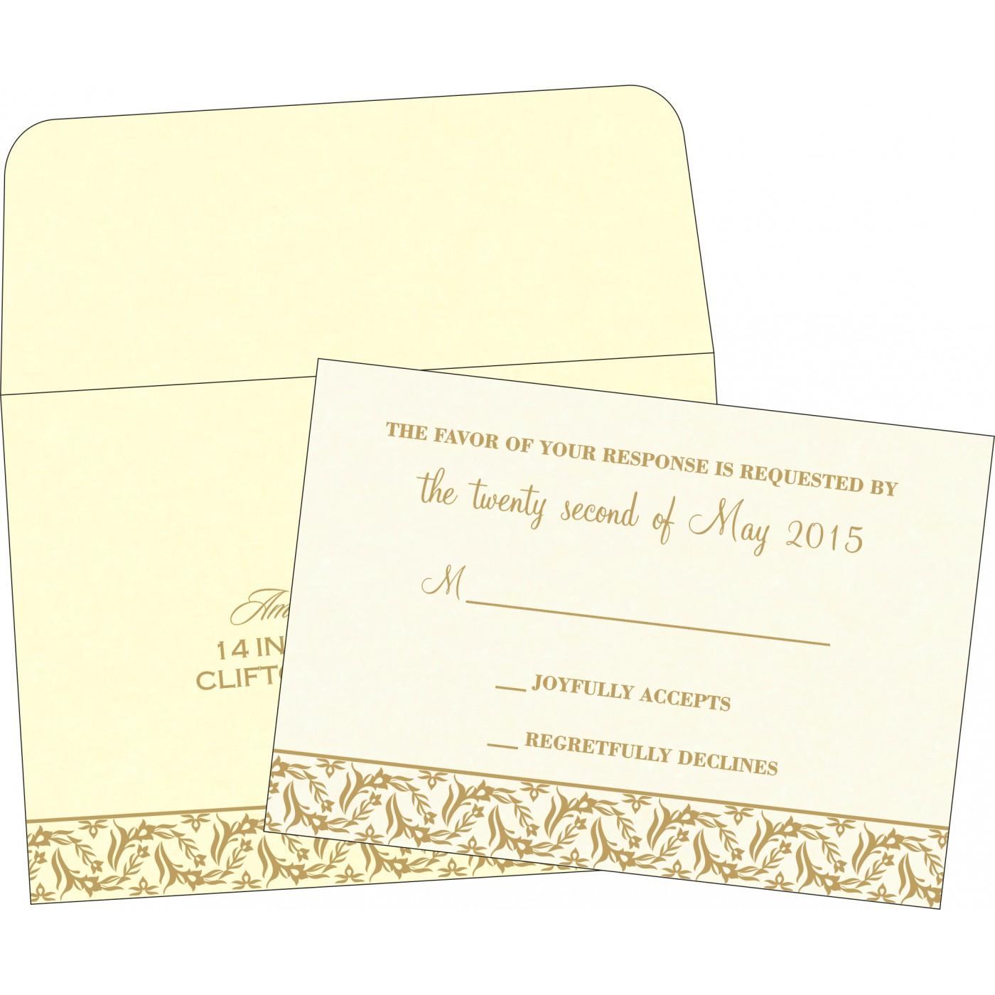 RSVP Cards : CRSVP-8249B - IndianWeddingCards