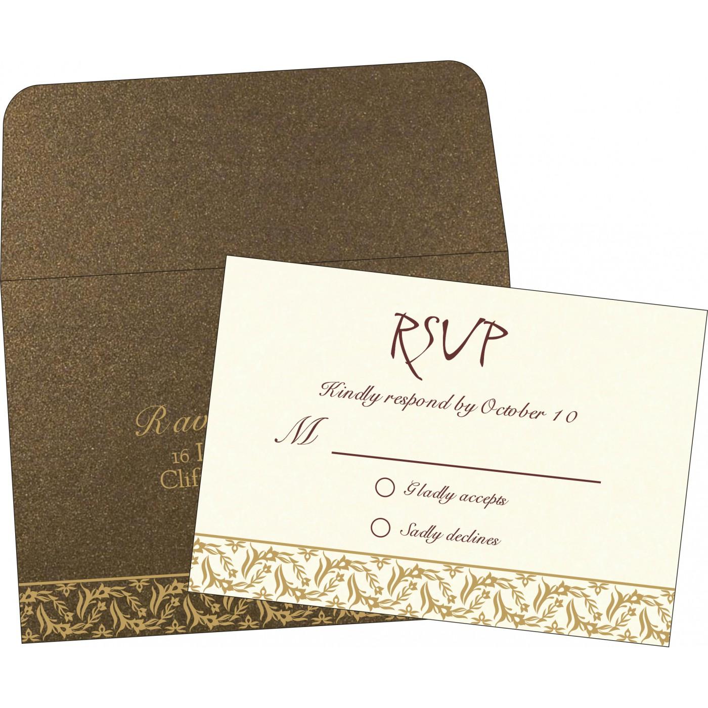 RSVP Cards : CRSVP-8249J - IndianWeddingCards