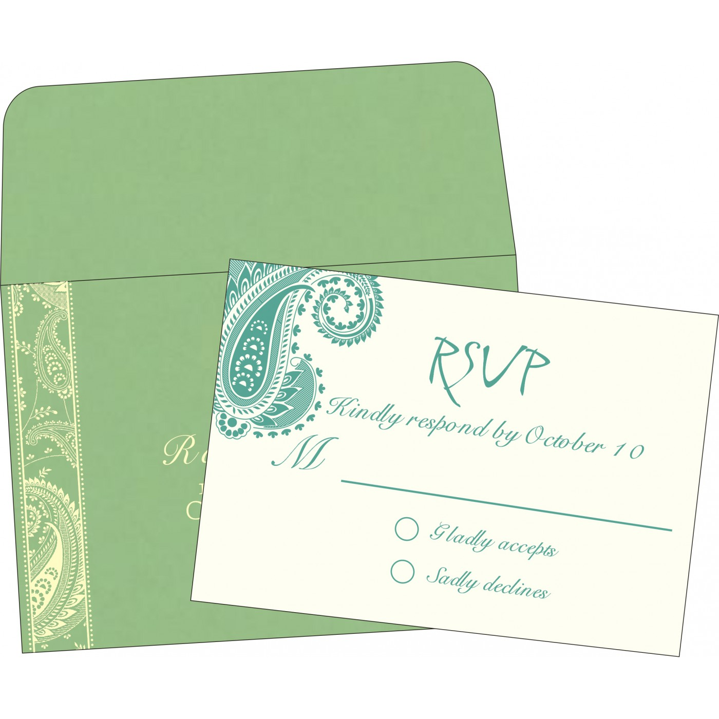 RSVP Cards : CRSVP-8250G - IndianWeddingCards