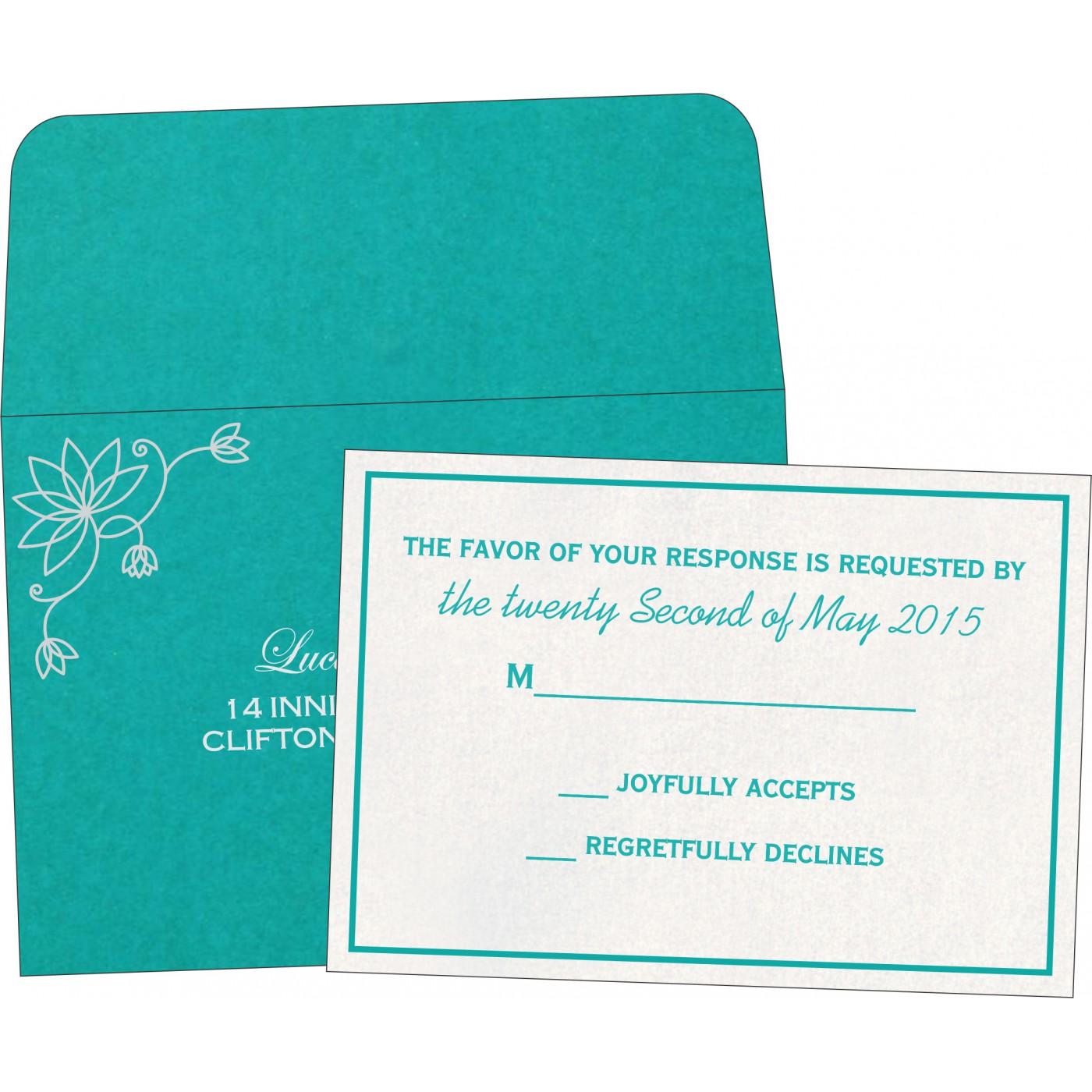 RSVP Cards : CRSVP-8251A - IndianWeddingCards
