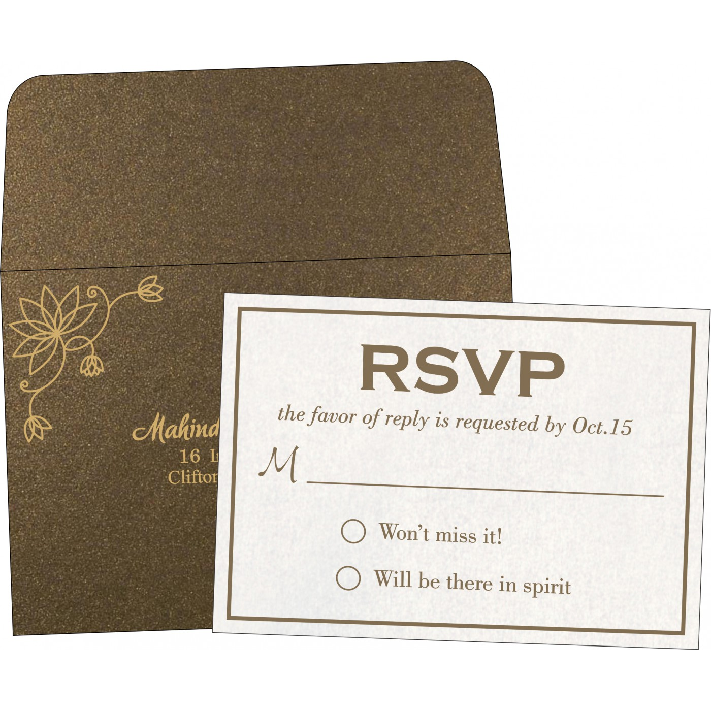 RSVP Cards : CRSVP-8251F - IndianWeddingCards
