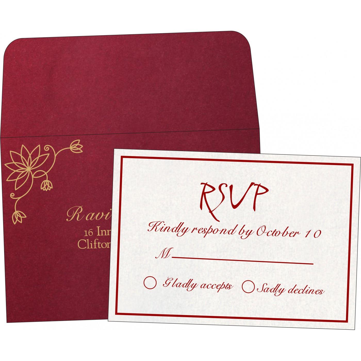RSVP Cards : CRSVP-8251L - IndianWeddingCards