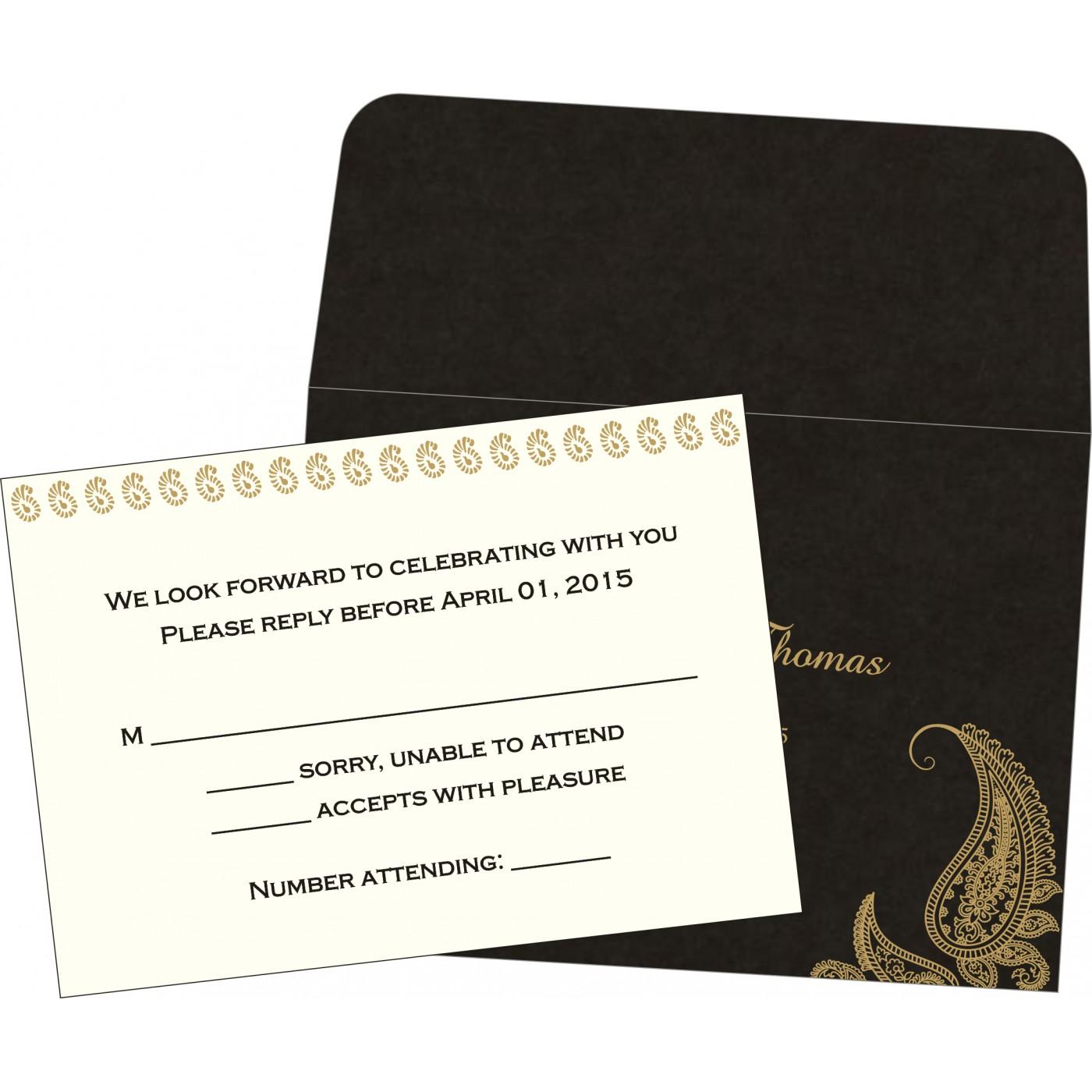 RSVP Cards : CRSVP-8252C - IndianWeddingCards