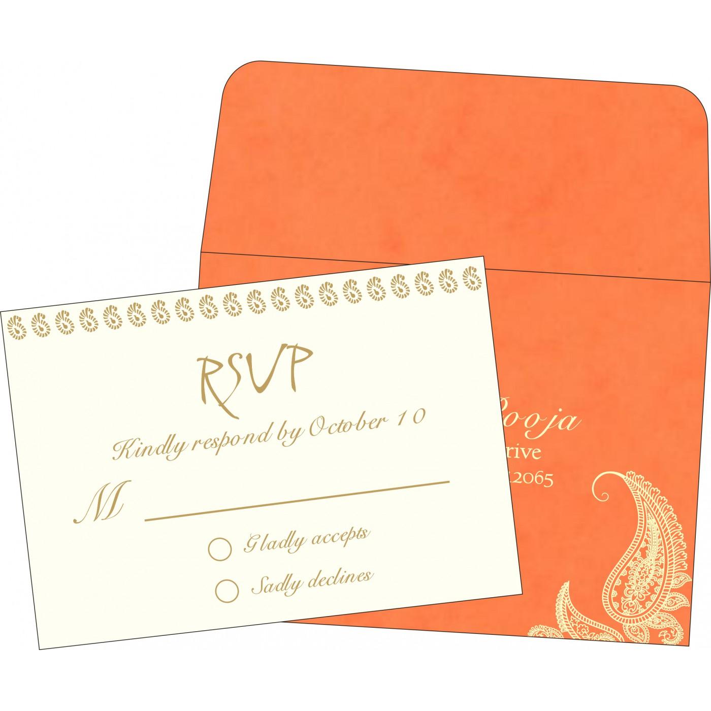 RSVP Cards : CRSVP-8252D - IndianWeddingCards
