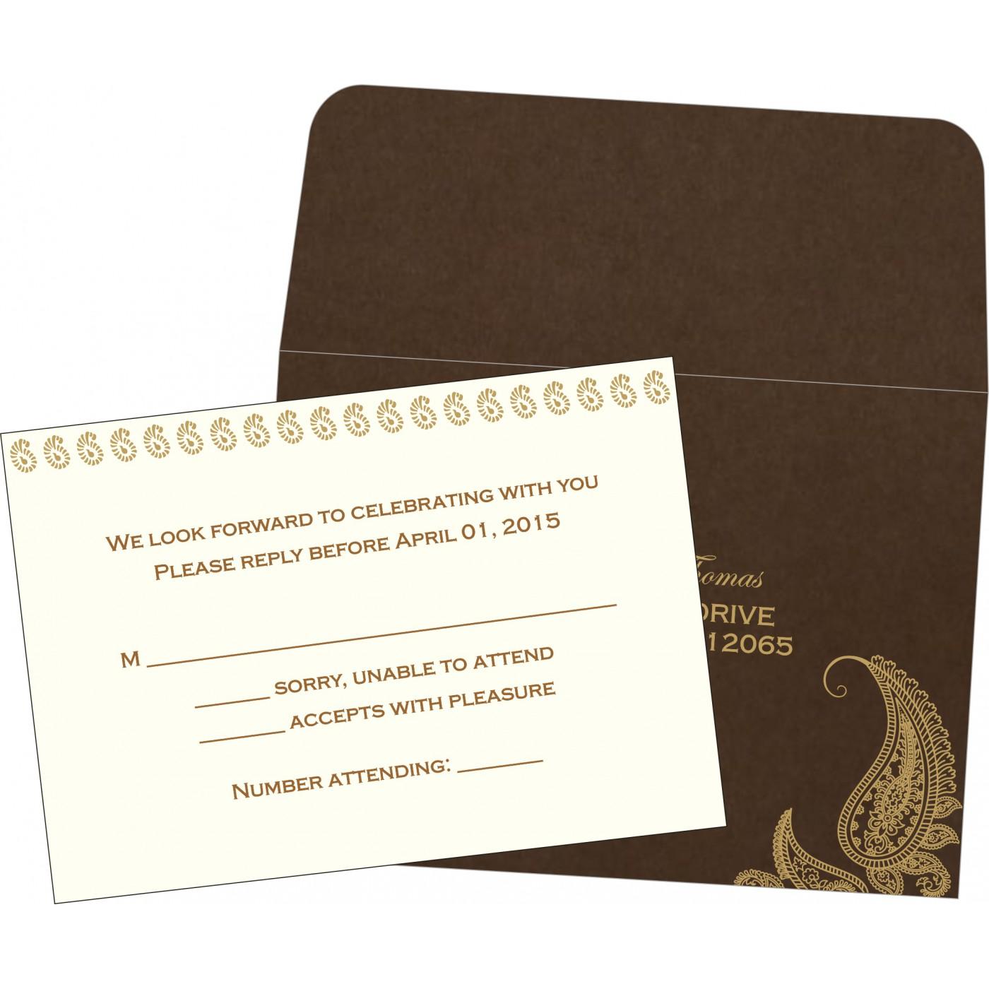RSVP Cards : CRSVP-8252F - IndianWeddingCards
