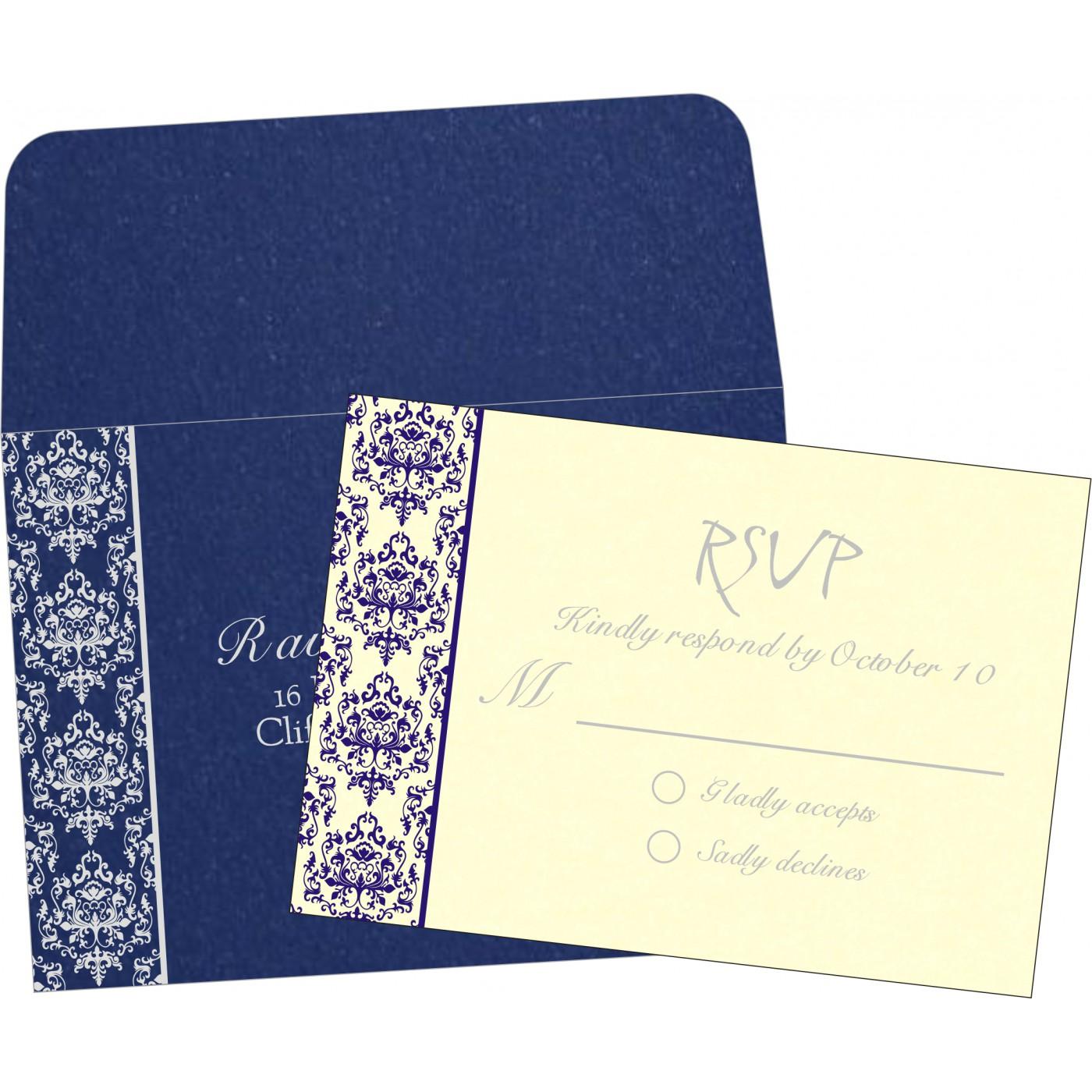 RSVP Cards : CRSVP-8253D - IndianWeddingCards