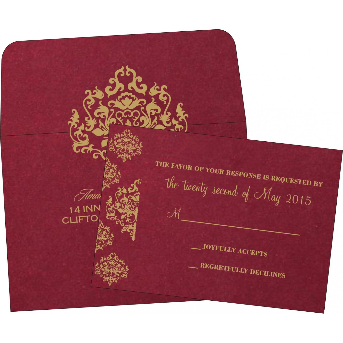 RSVP Cards : CRSVP-8254B - IndianWeddingCards