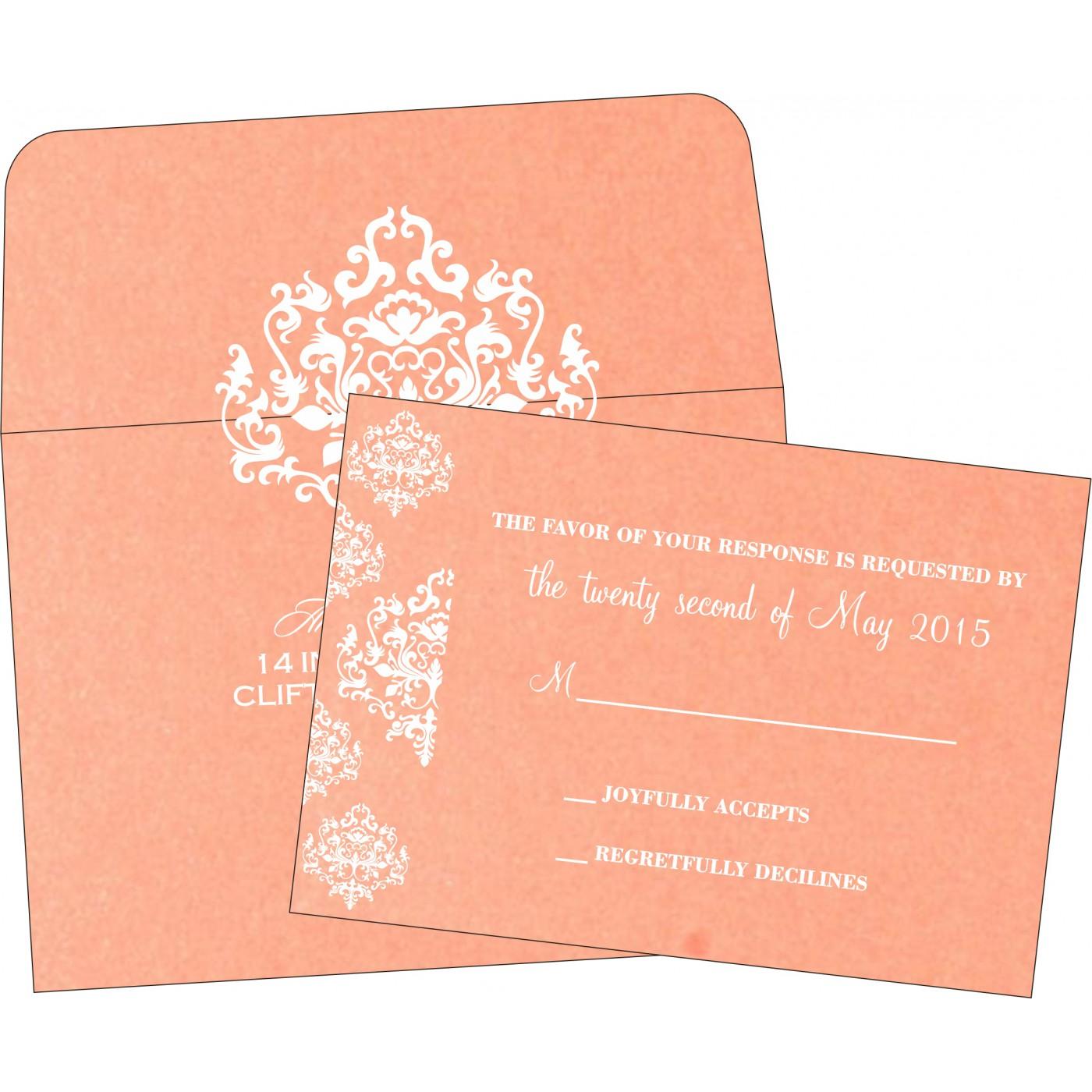 RSVP Cards : CRSVP-8254G - IndianWeddingCards