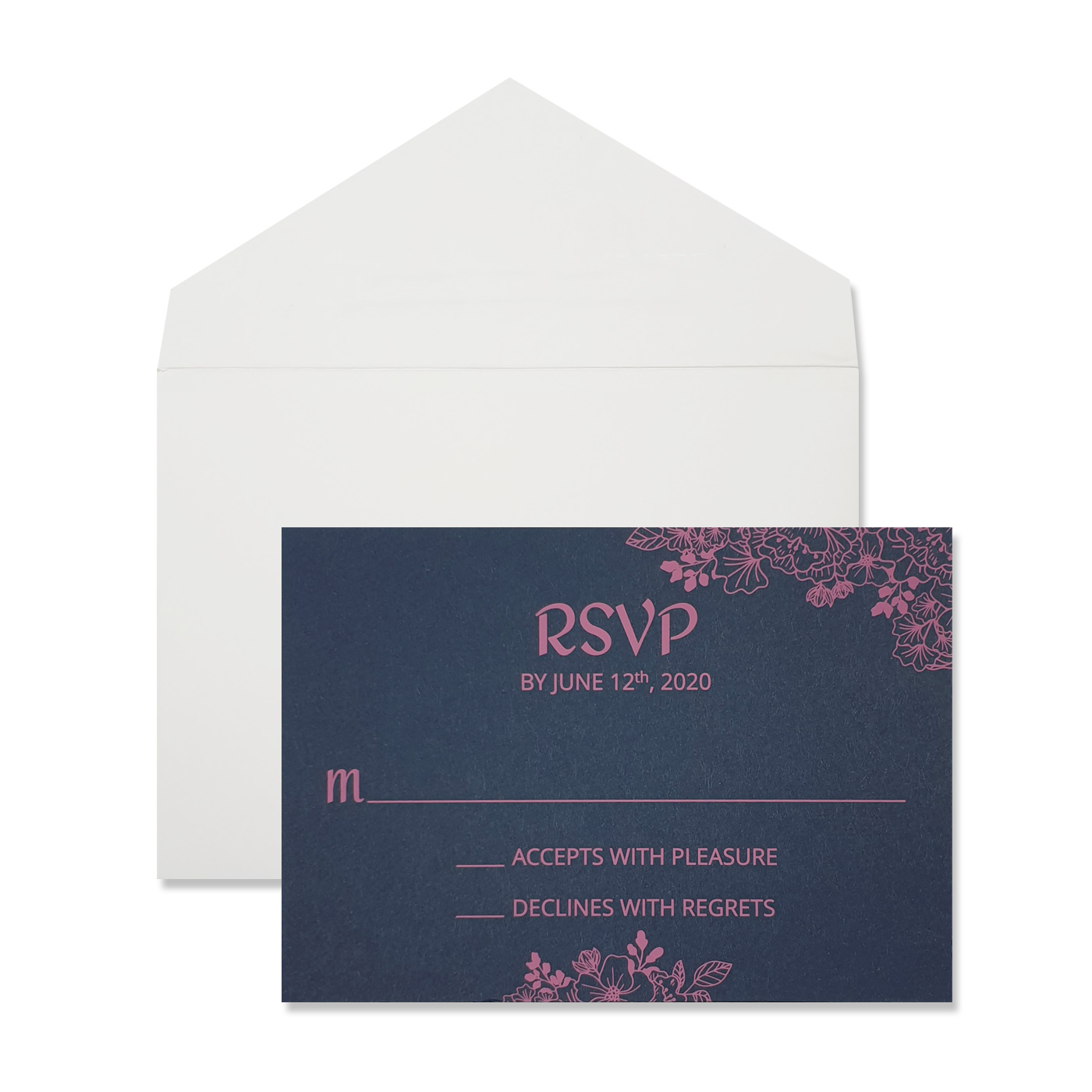 RSVP Cards : CRSVP-BLOOM - IndianWeddingCards