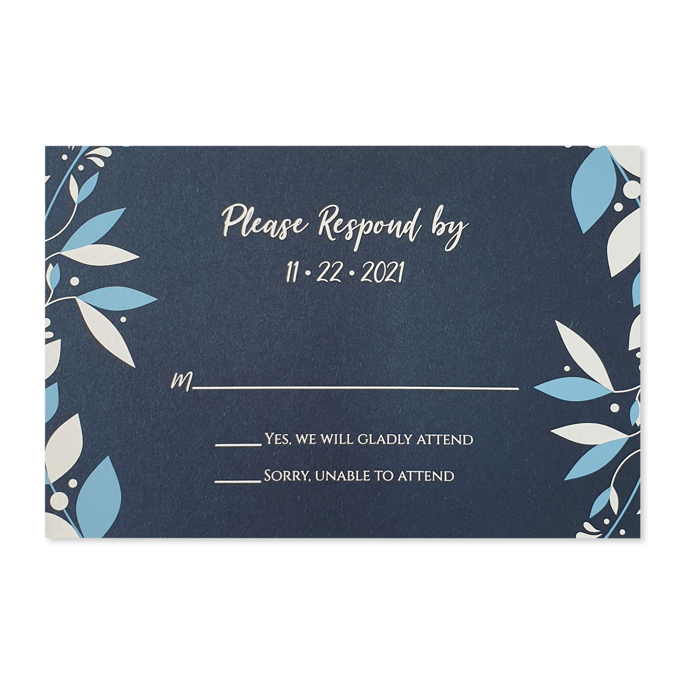 RSVP Cards : CRSVP-CORNER_WREATH - IndianWeddingCards