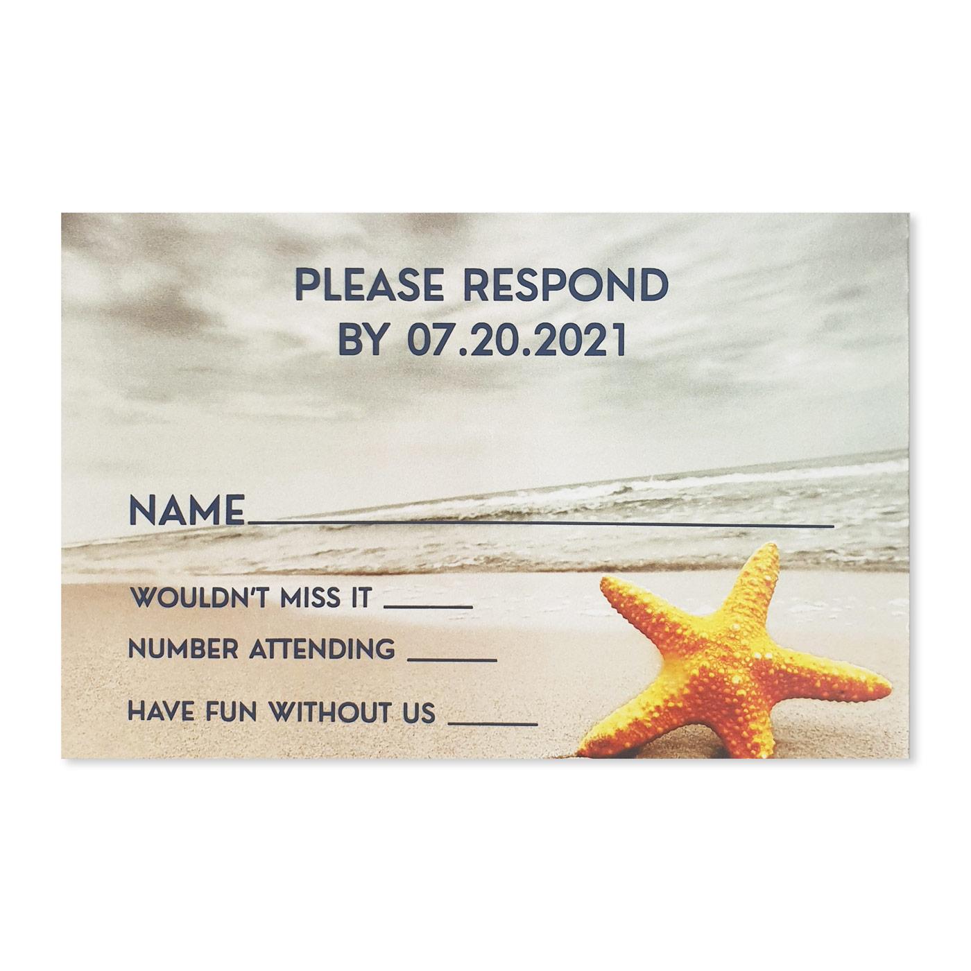 RSVP Cards : CRSVP-NAUTICAL_STARFISH - IndianWeddingCards