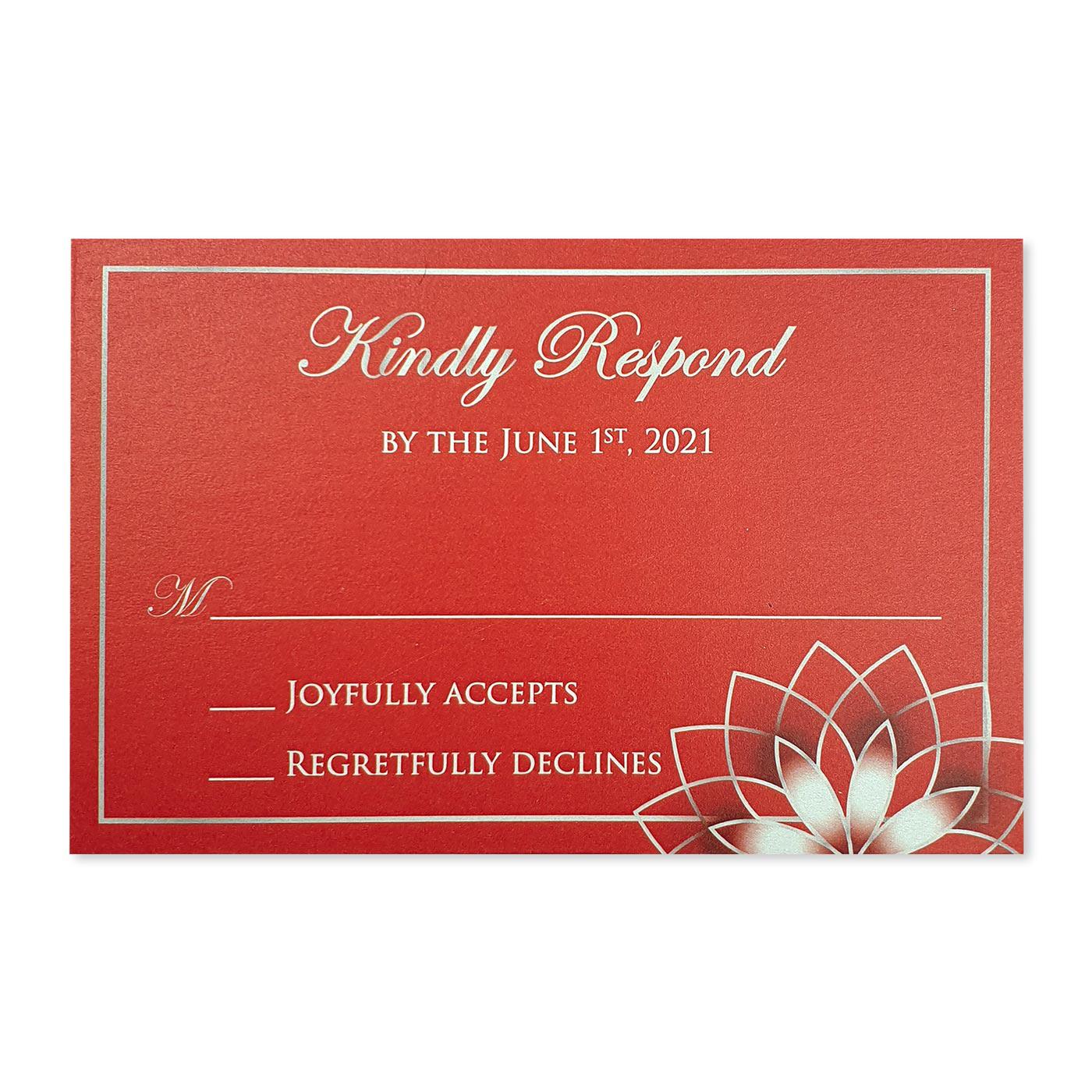 RSVP Cards : CRSVP-ROSE_OUTLINE - IndianWeddingCards